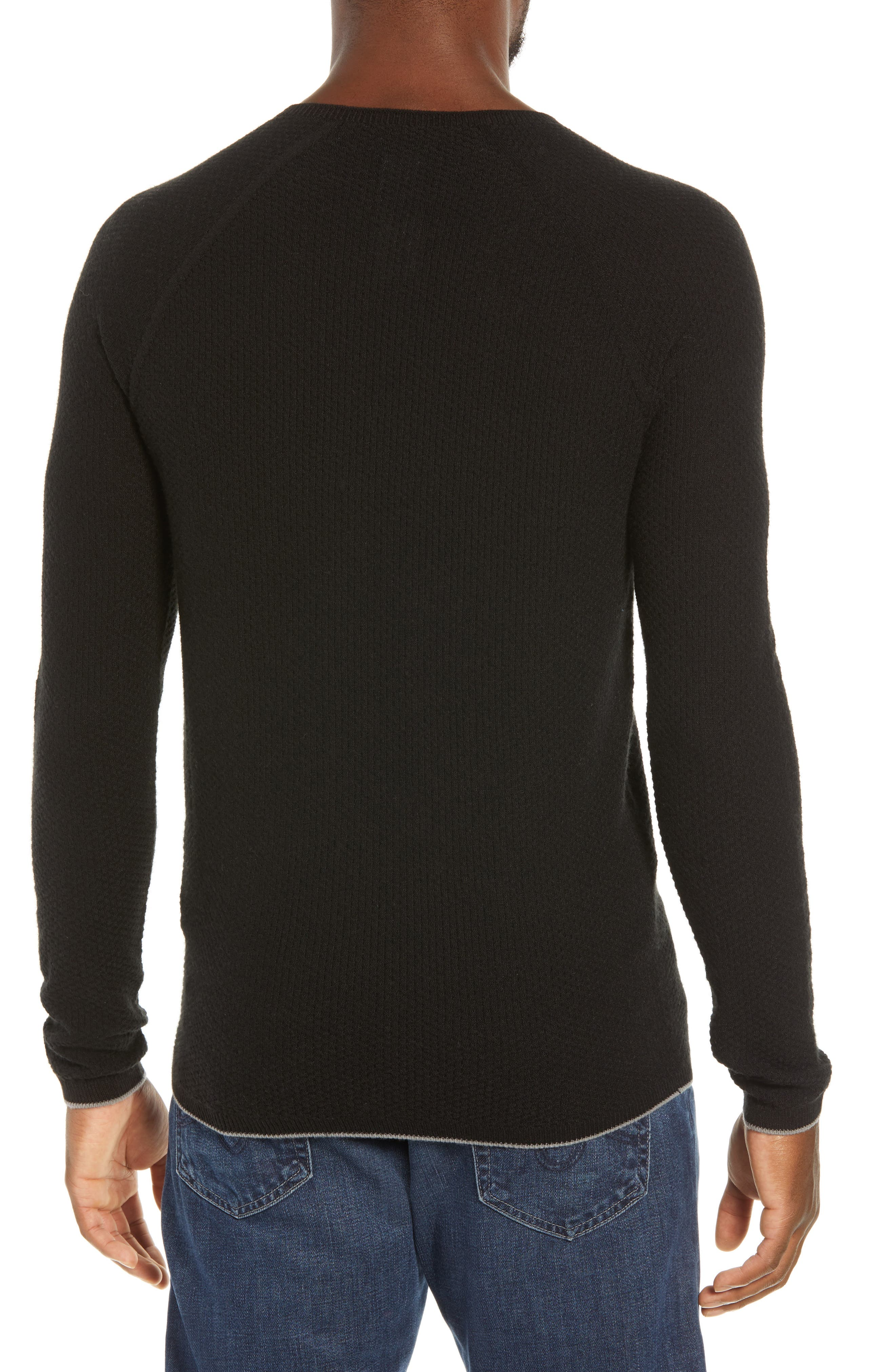 Capilene<sup>®</sup> Lightweight Air Crew Sweater,                             Alternate thumbnail 2, color,                             BLACK