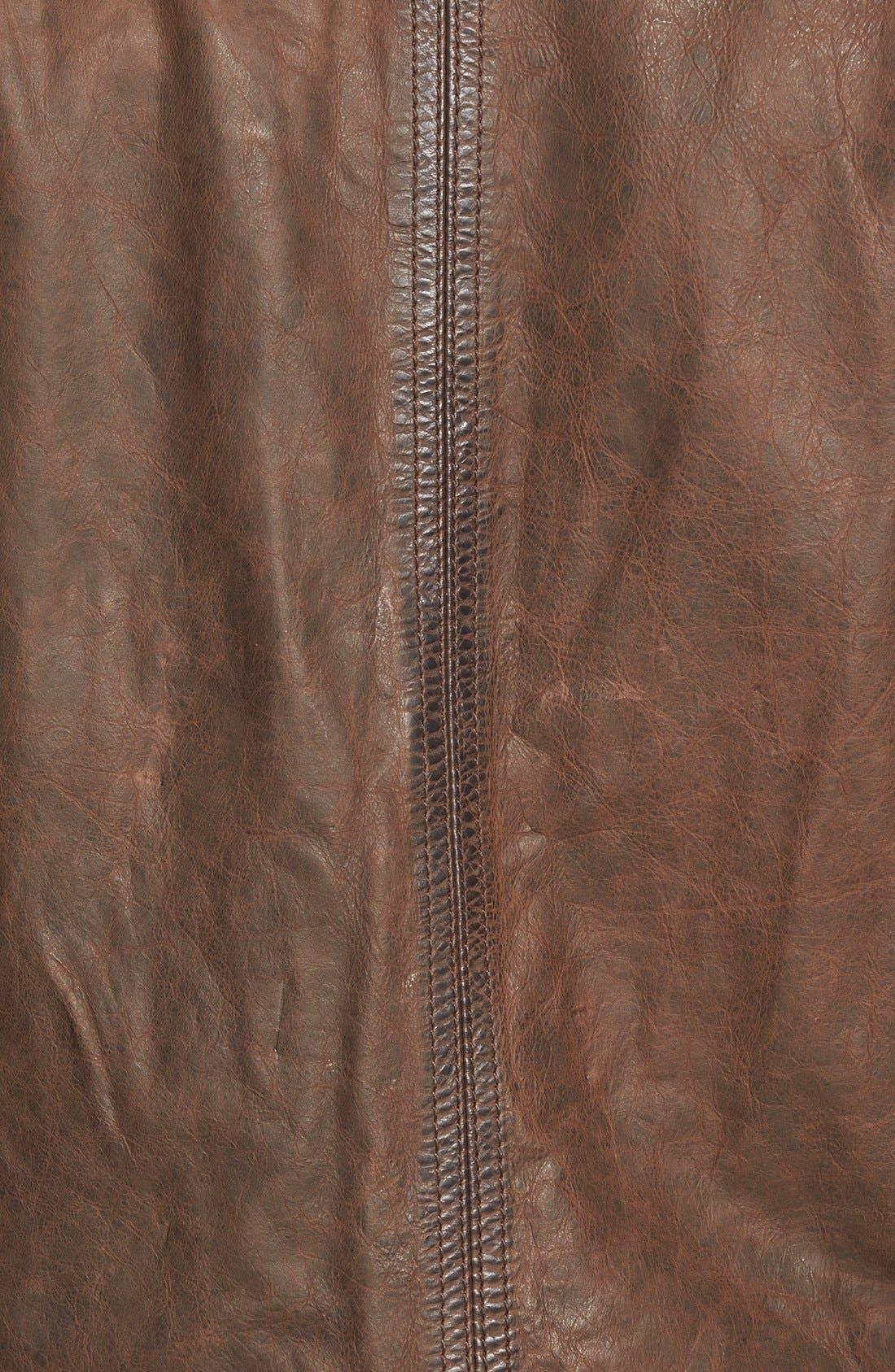 'Tenon' Leather Jacket,                             Alternate thumbnail 5, color,                             201