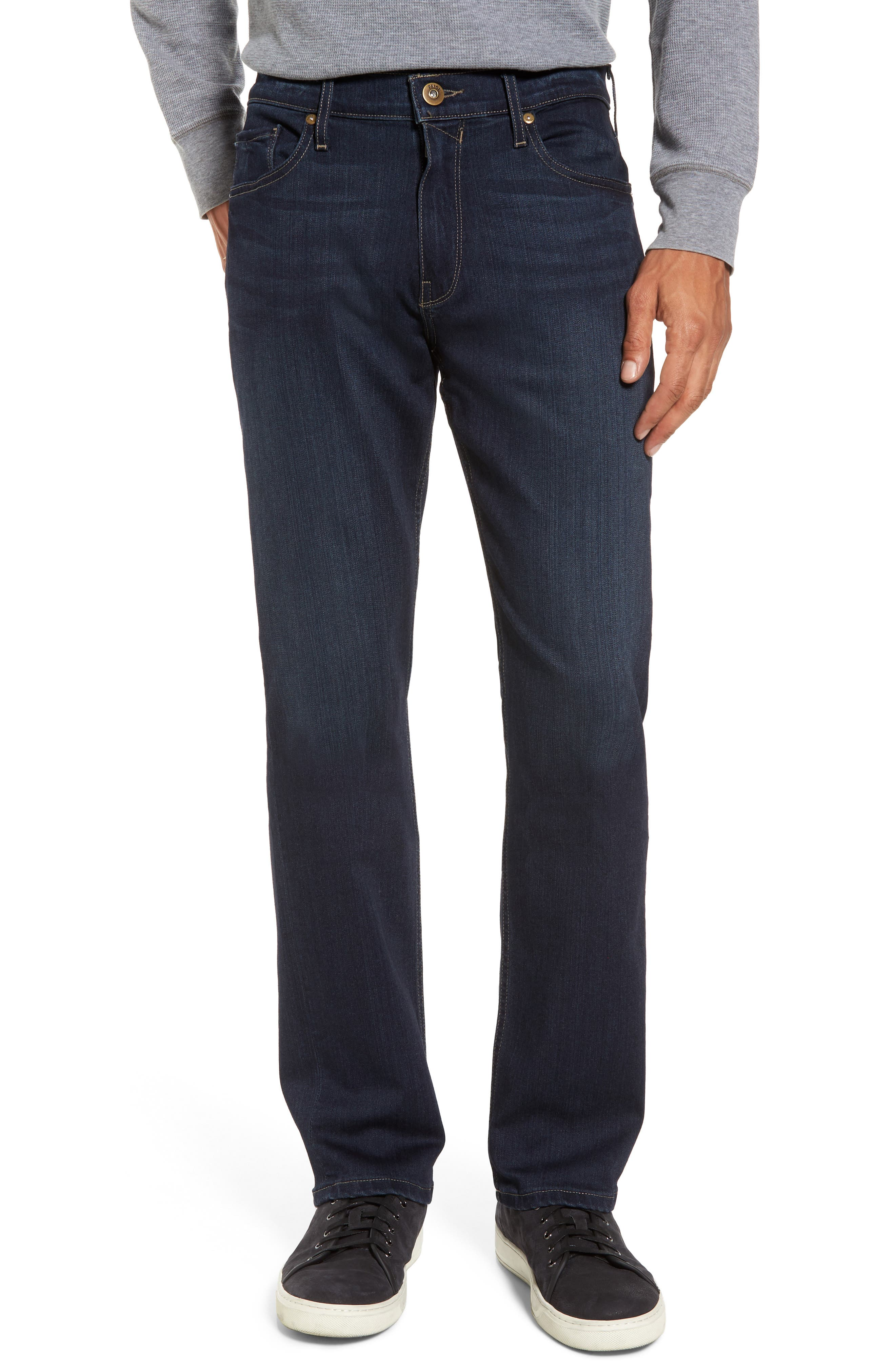 Transcend - Normandie Straight Fit Jeans,                             Main thumbnail 1, color,                             400