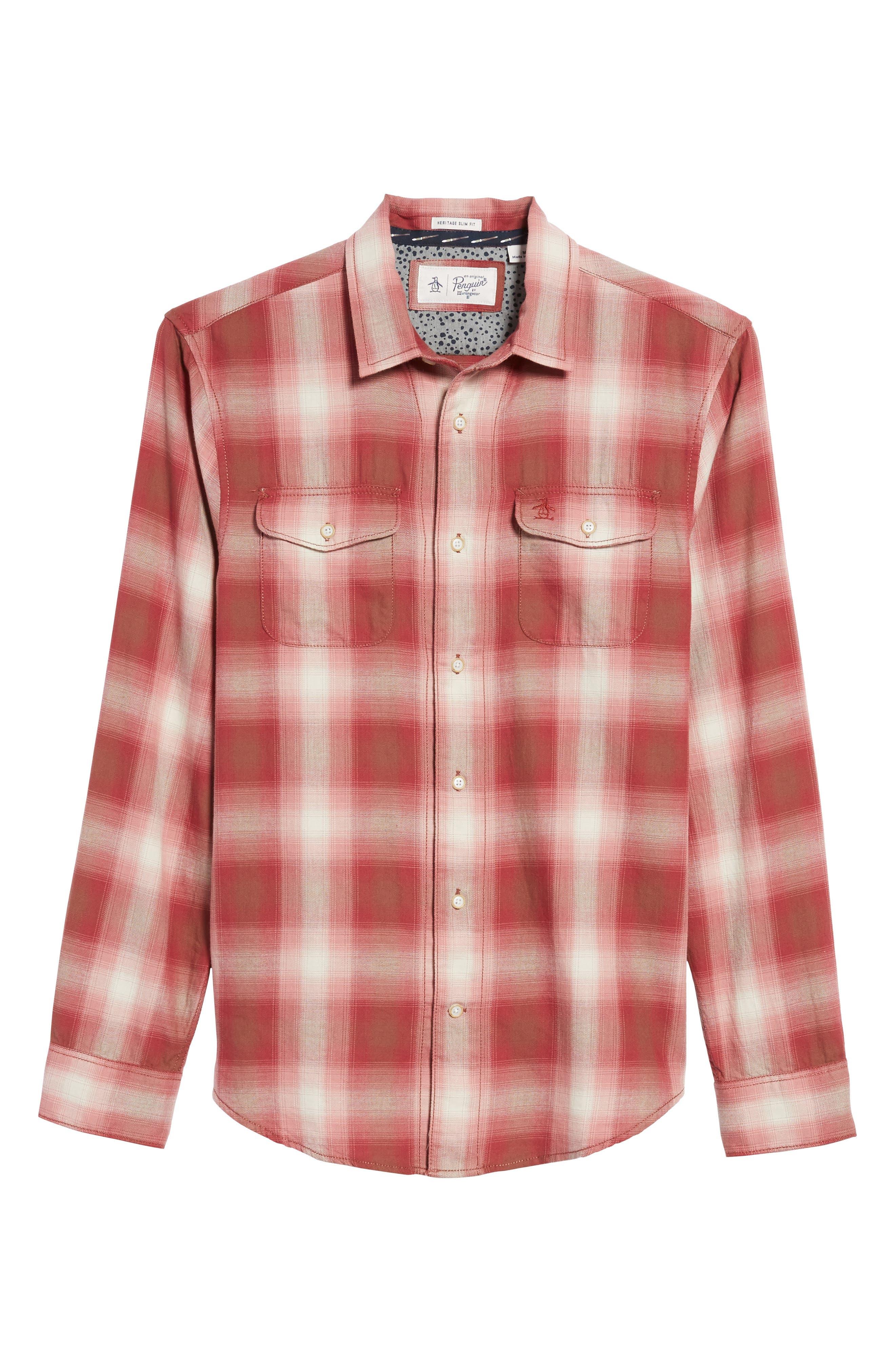 90s Plaid Flannel Shirt,                             Alternate thumbnail 6, color,                             643