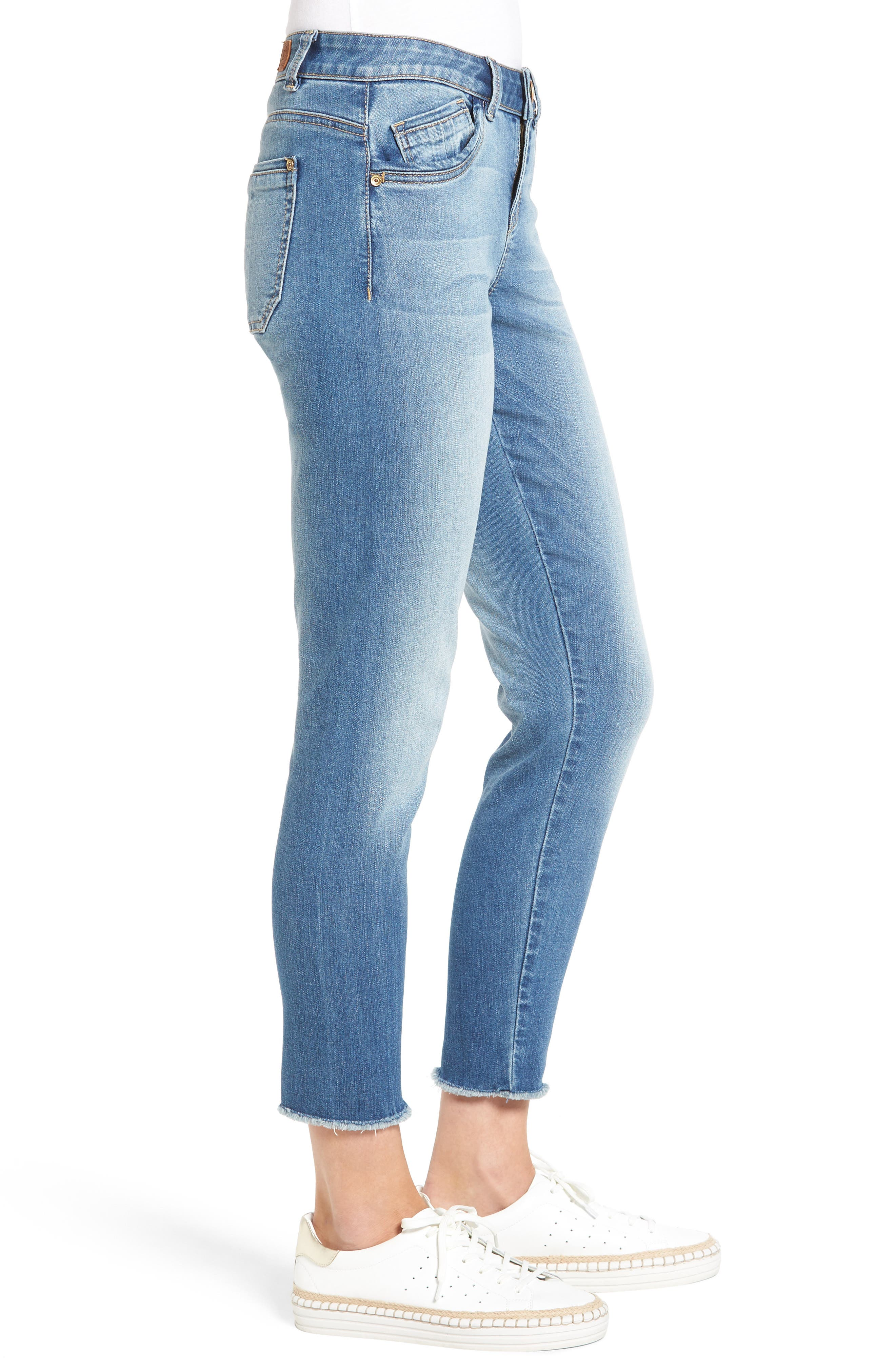 Seamless Ankle Skimmer Jeans (Regular & Petite),                             Alternate thumbnail 3, color,