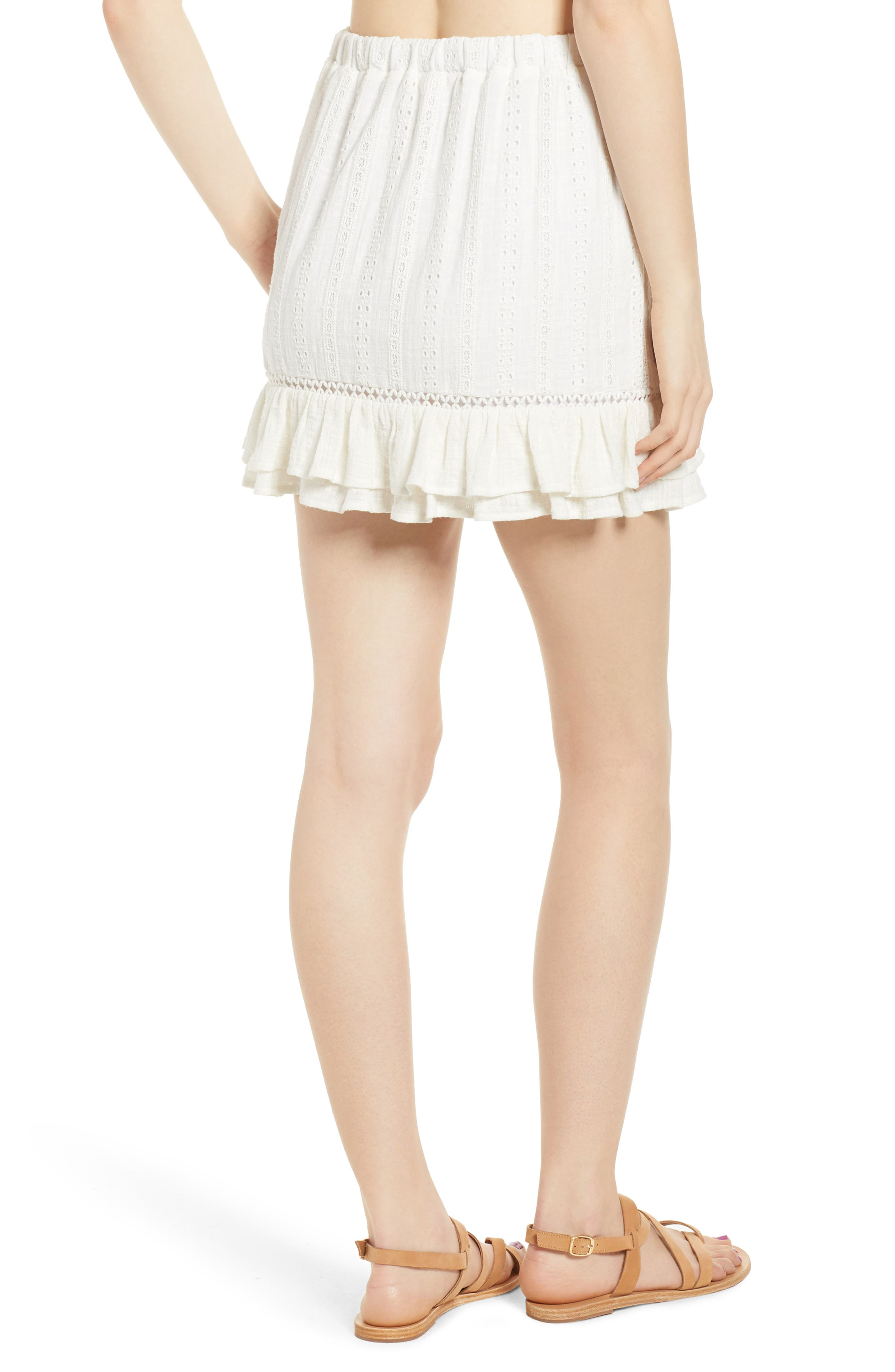 Daisy Ruffle Miniskirt,                             Alternate thumbnail 2, color,