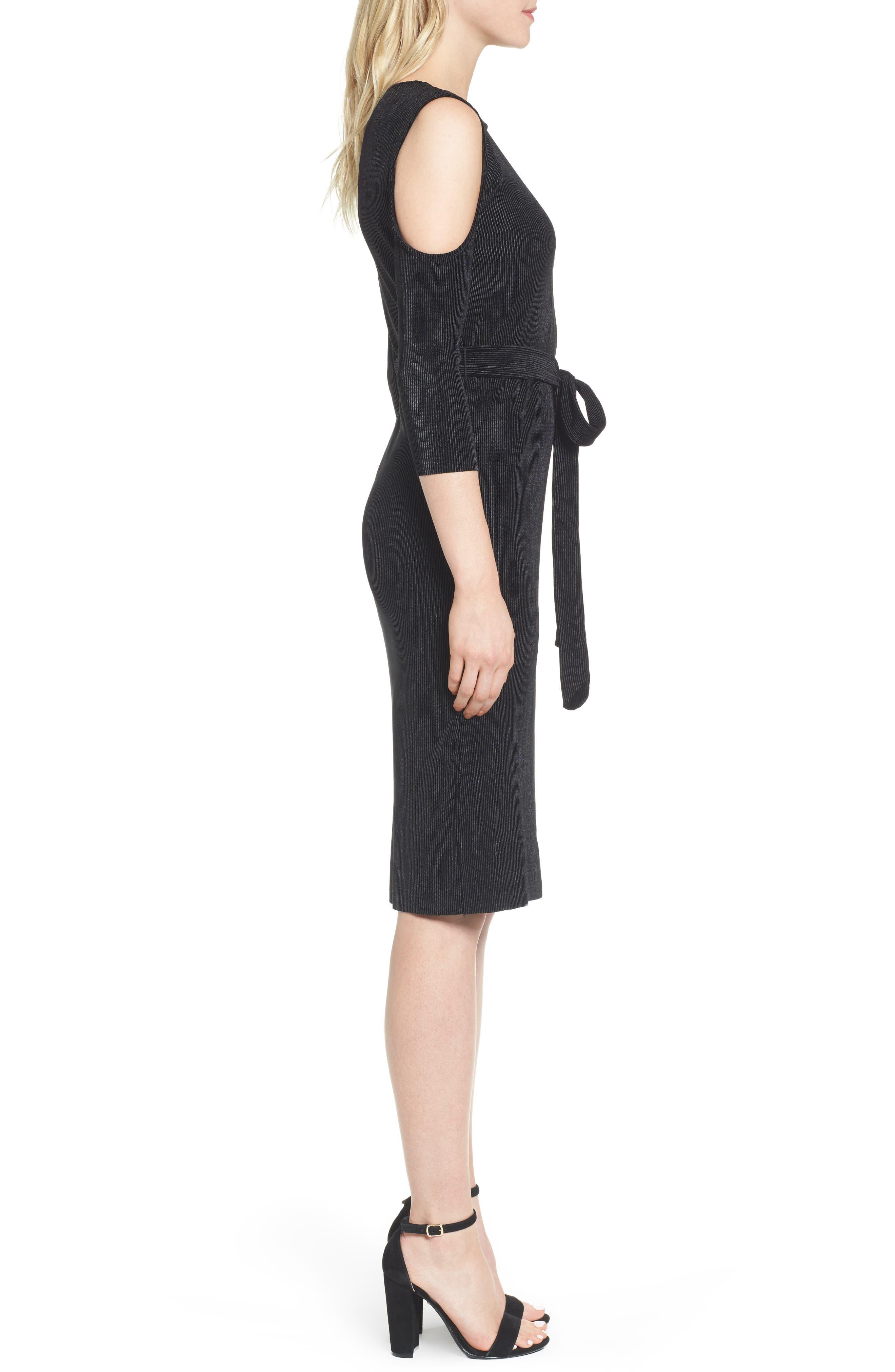 Bishop + Young Sasha Cold Shoulder Dress,                             Alternate thumbnail 3, color,