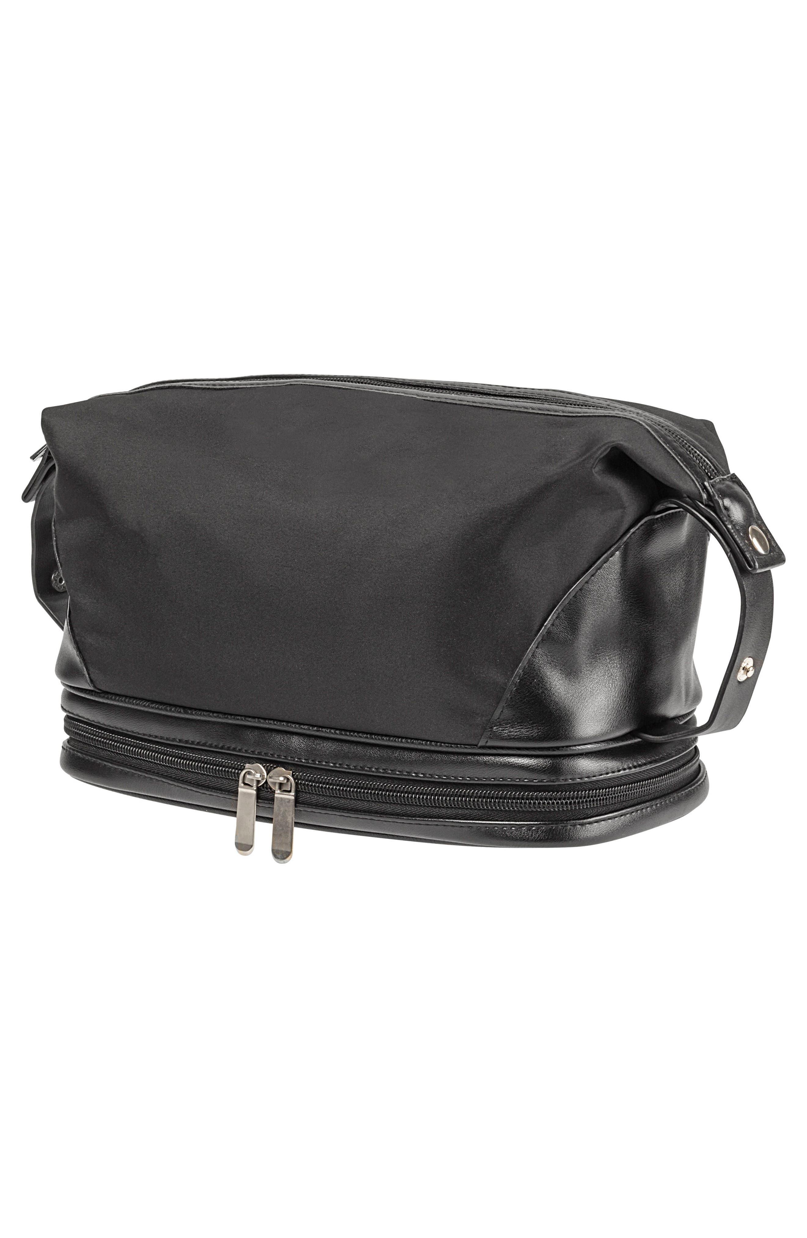 Monogram Toiletry Bag,                         Main,                         color, BLACK