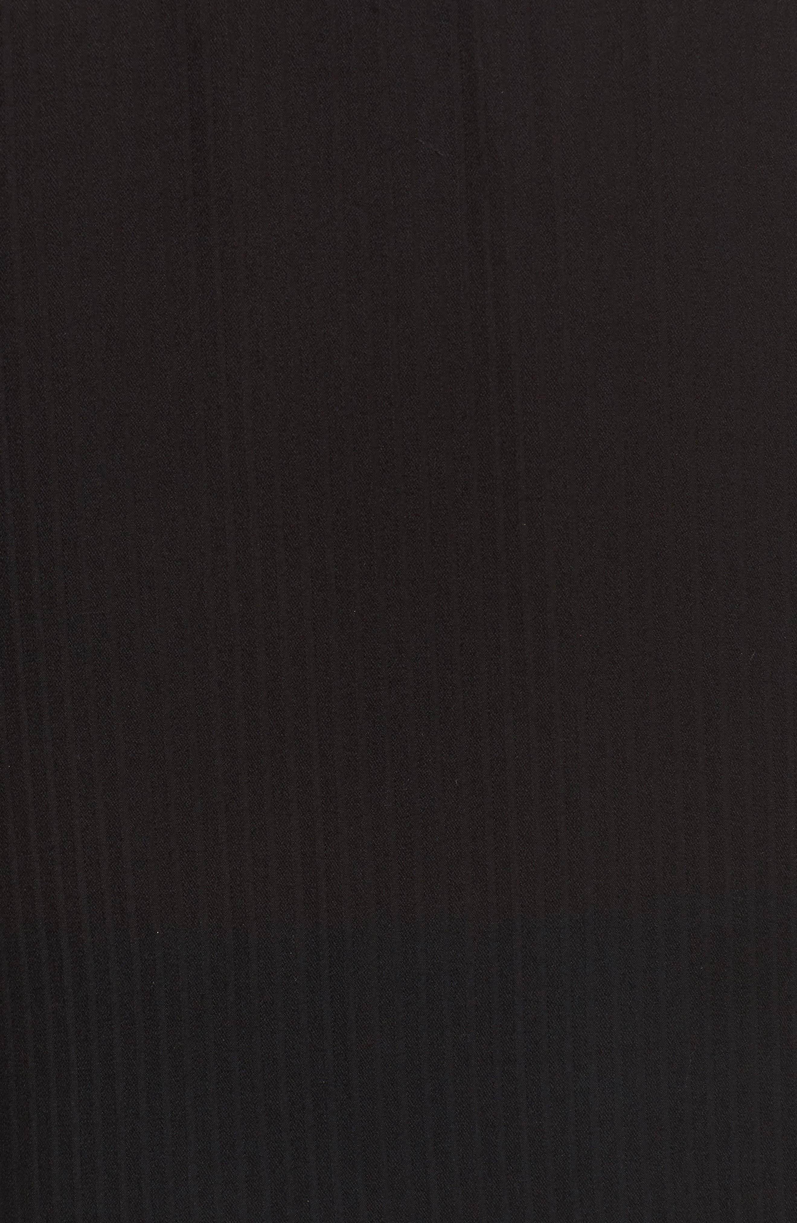 Dobby Classic Shirt,                             Alternate thumbnail 5, color,                             BLACK
