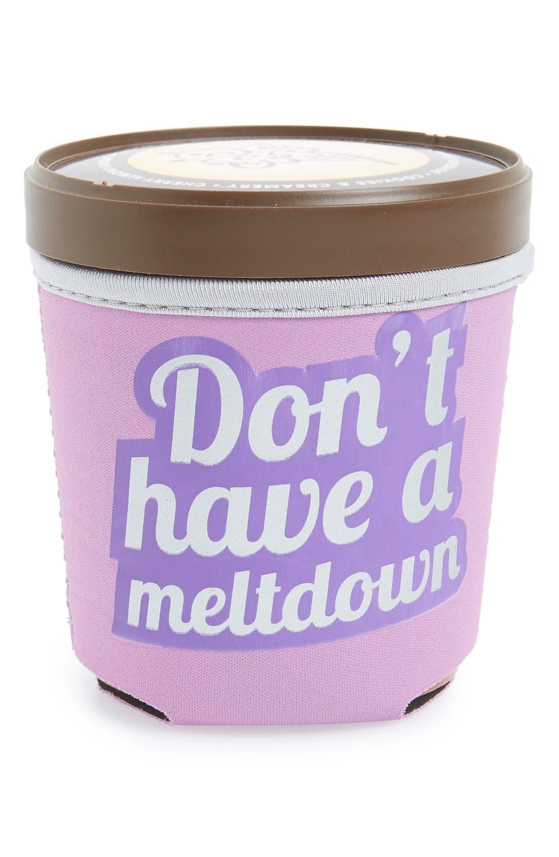 DESIGN IDEAS 'Don't Have A Meltdown' Ice Cream Pint Huggy, Main, color, 500