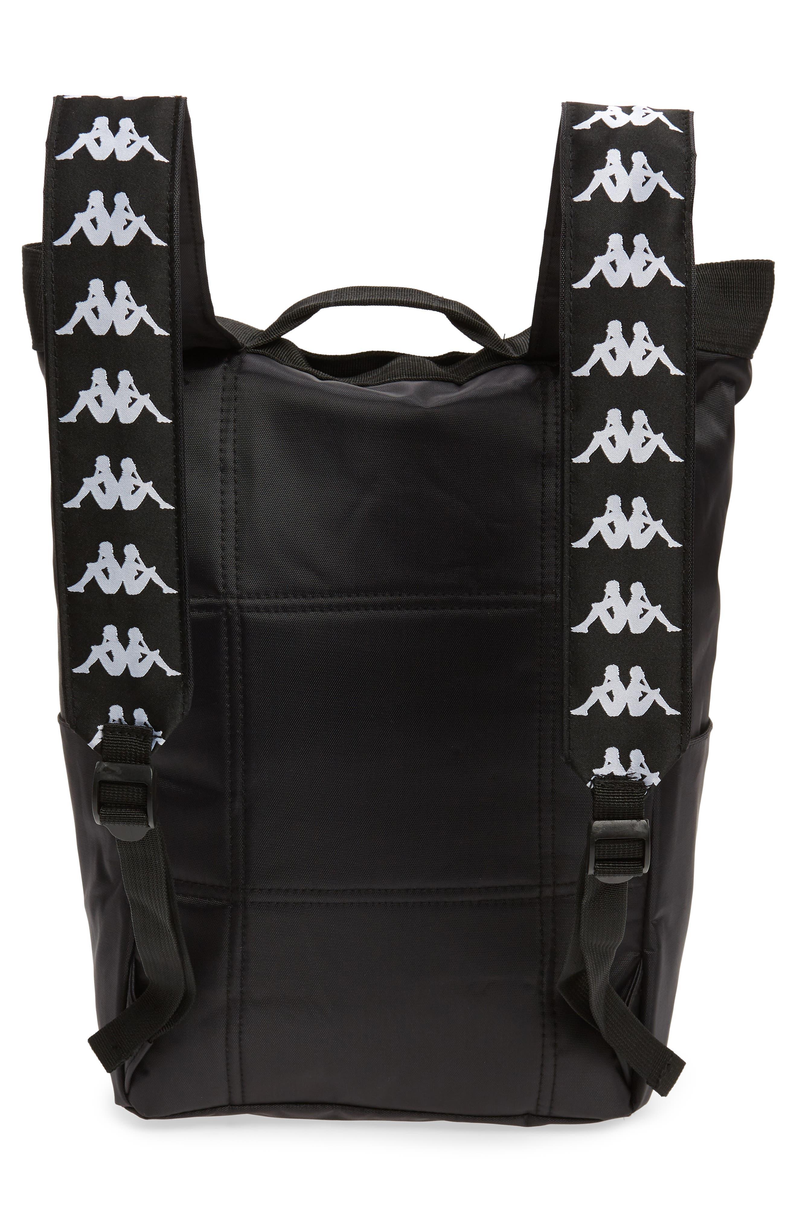 Medium Athletic Backpack,                             Alternate thumbnail 3, color,                             BLACK-WHITE