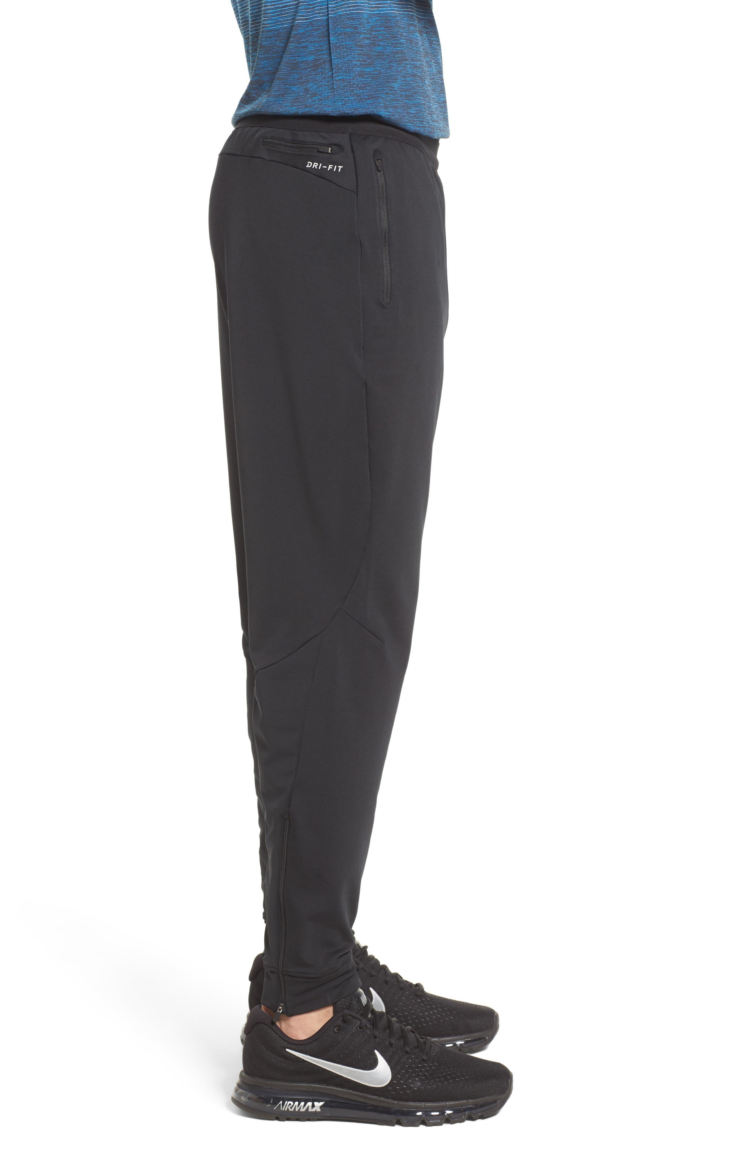 Dry Running Pants,                             Alternate thumbnail 3, color,                             BLACK