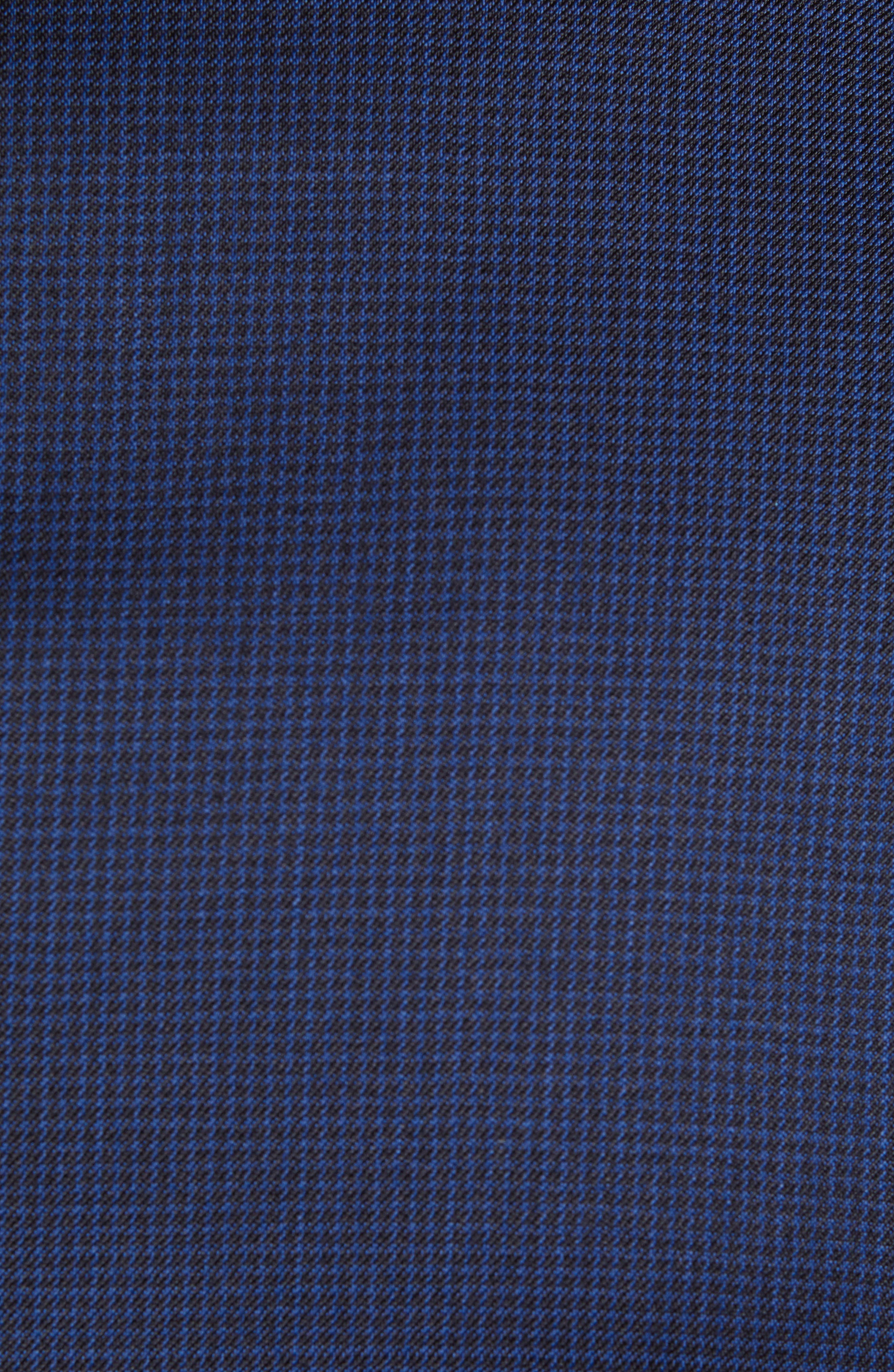 Ryan Classic Fit Houndstooth Wool Suit,                             Alternate thumbnail 7, color,                             BLUE