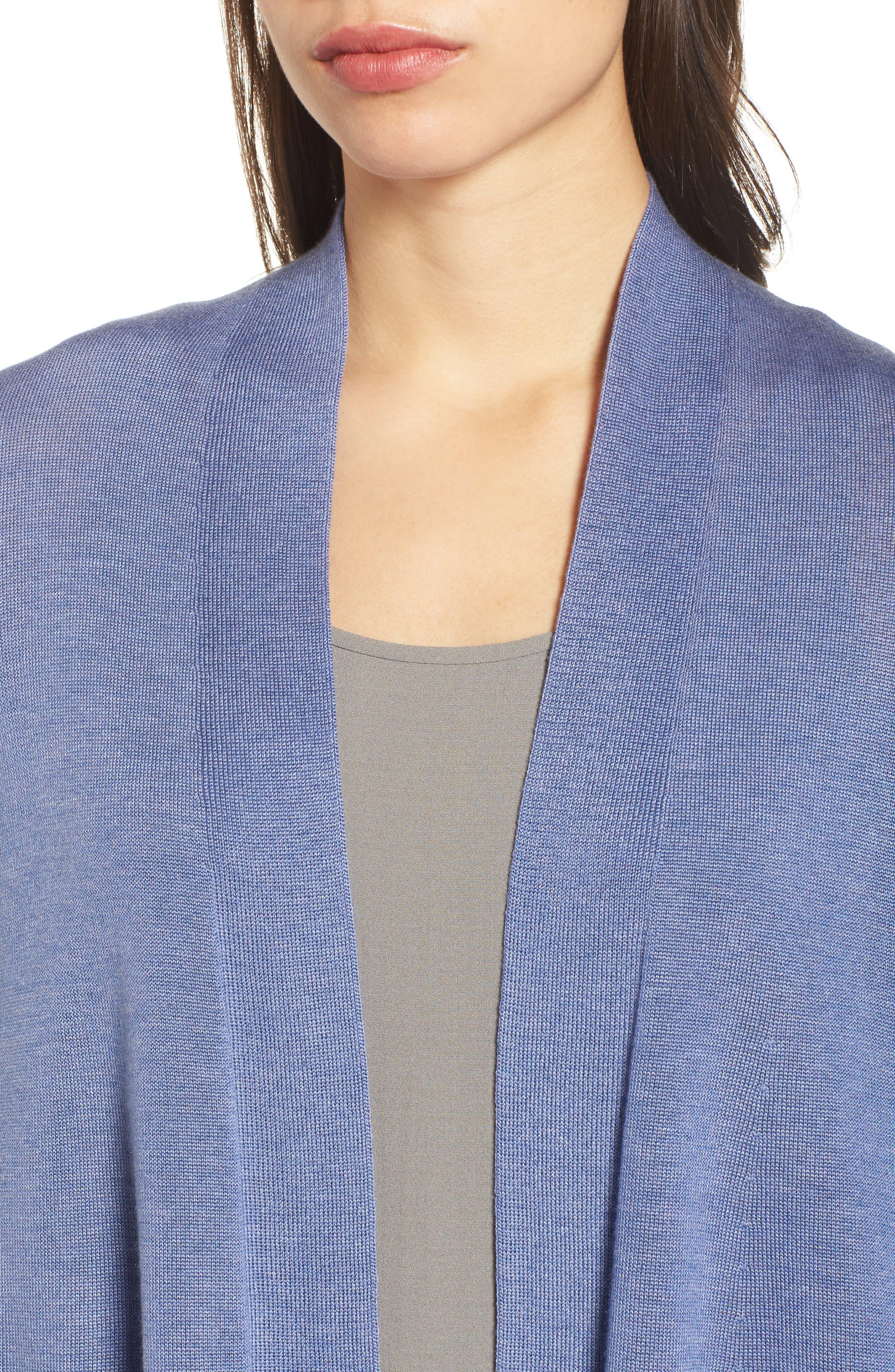 Tencel<sup>®</sup> Lyocell & Merino Wool Shaped Cardigan,                             Alternate thumbnail 18, color,