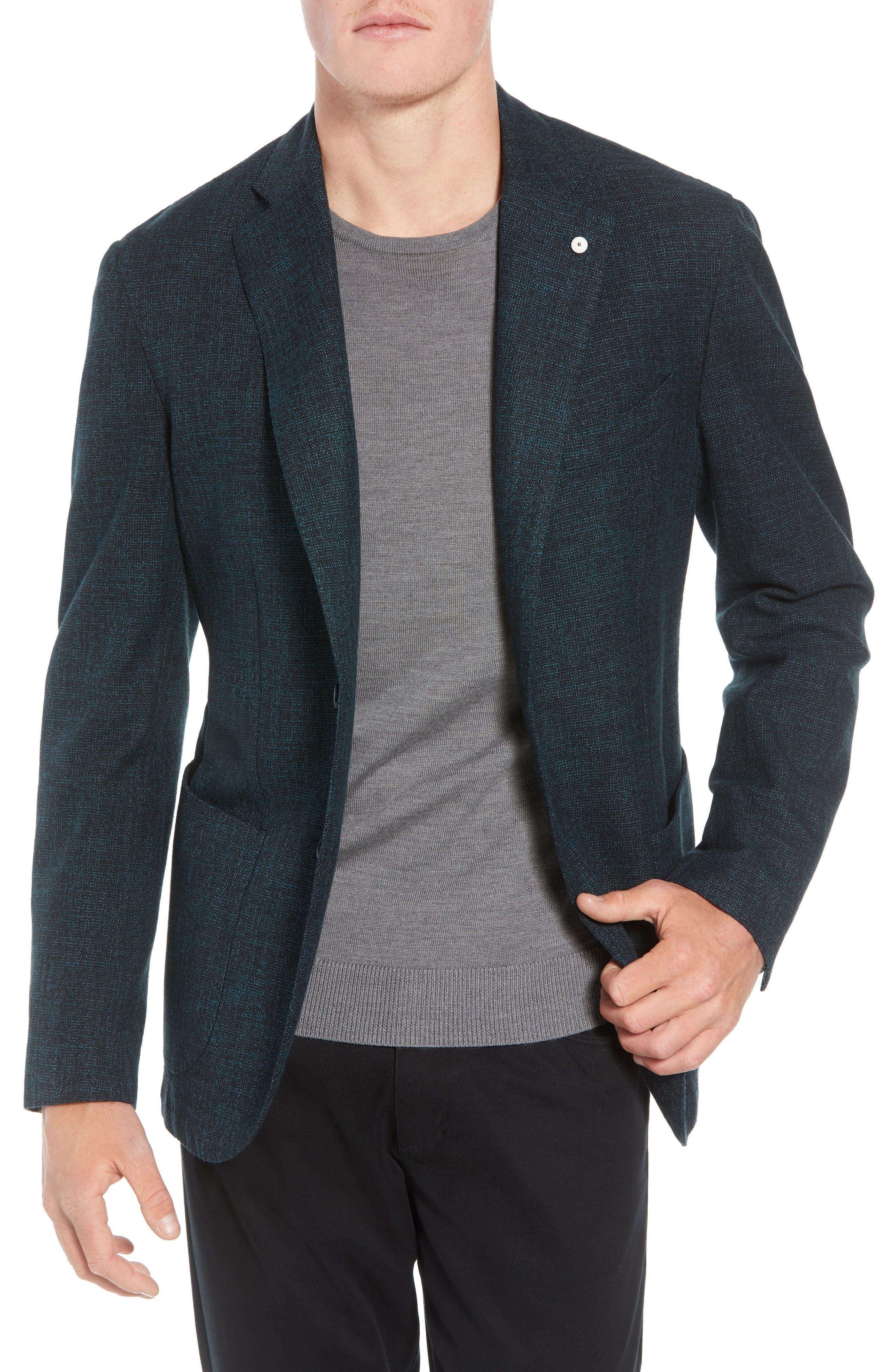 L.B.M 1911 Classic Fit Cotton & Wool Blazer,                             Main thumbnail 1, color,                             GREEN