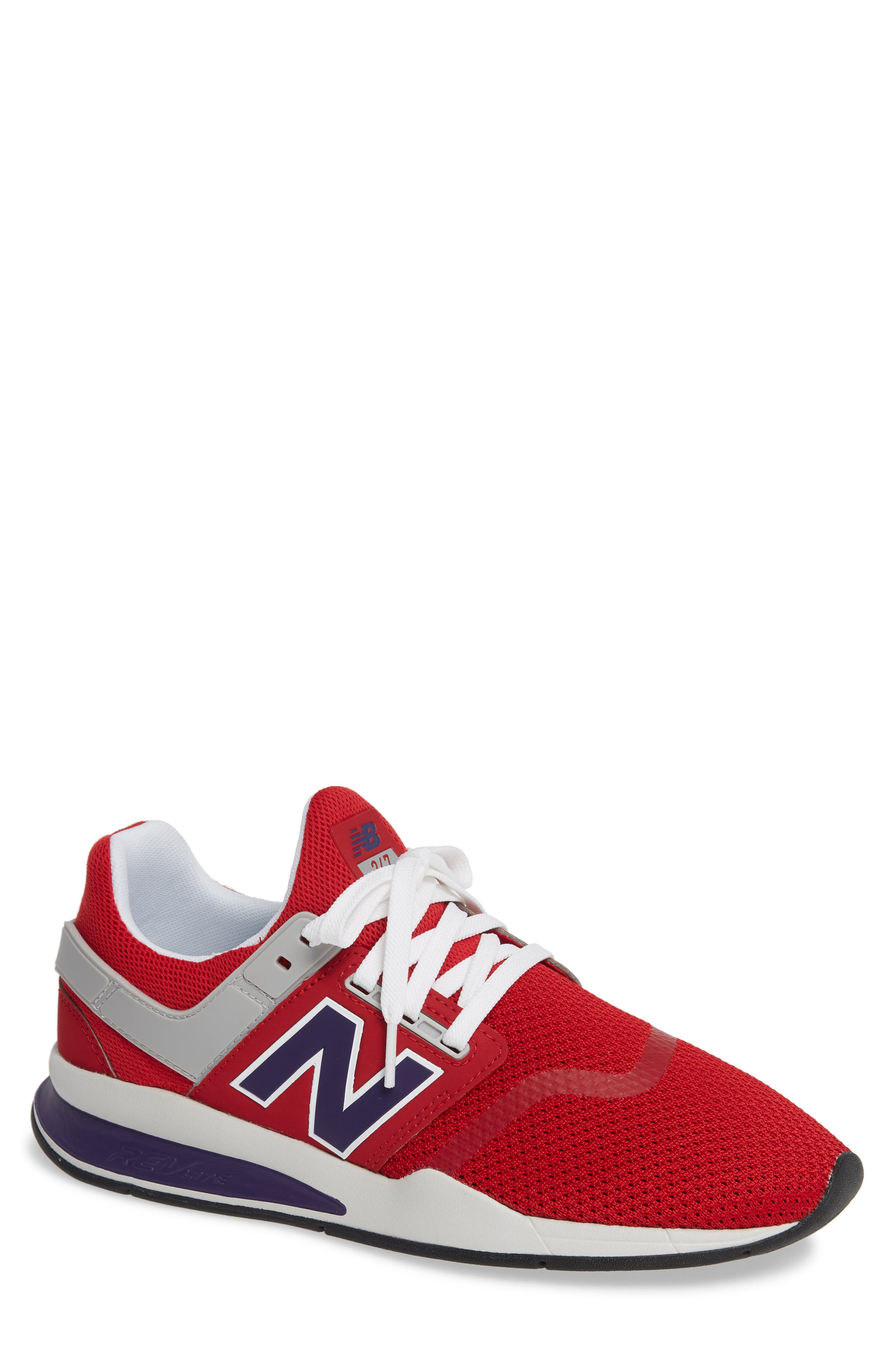 247 Sneaker,                         Main,                         color, TANGO RED SYNTHETIC/ MESH
