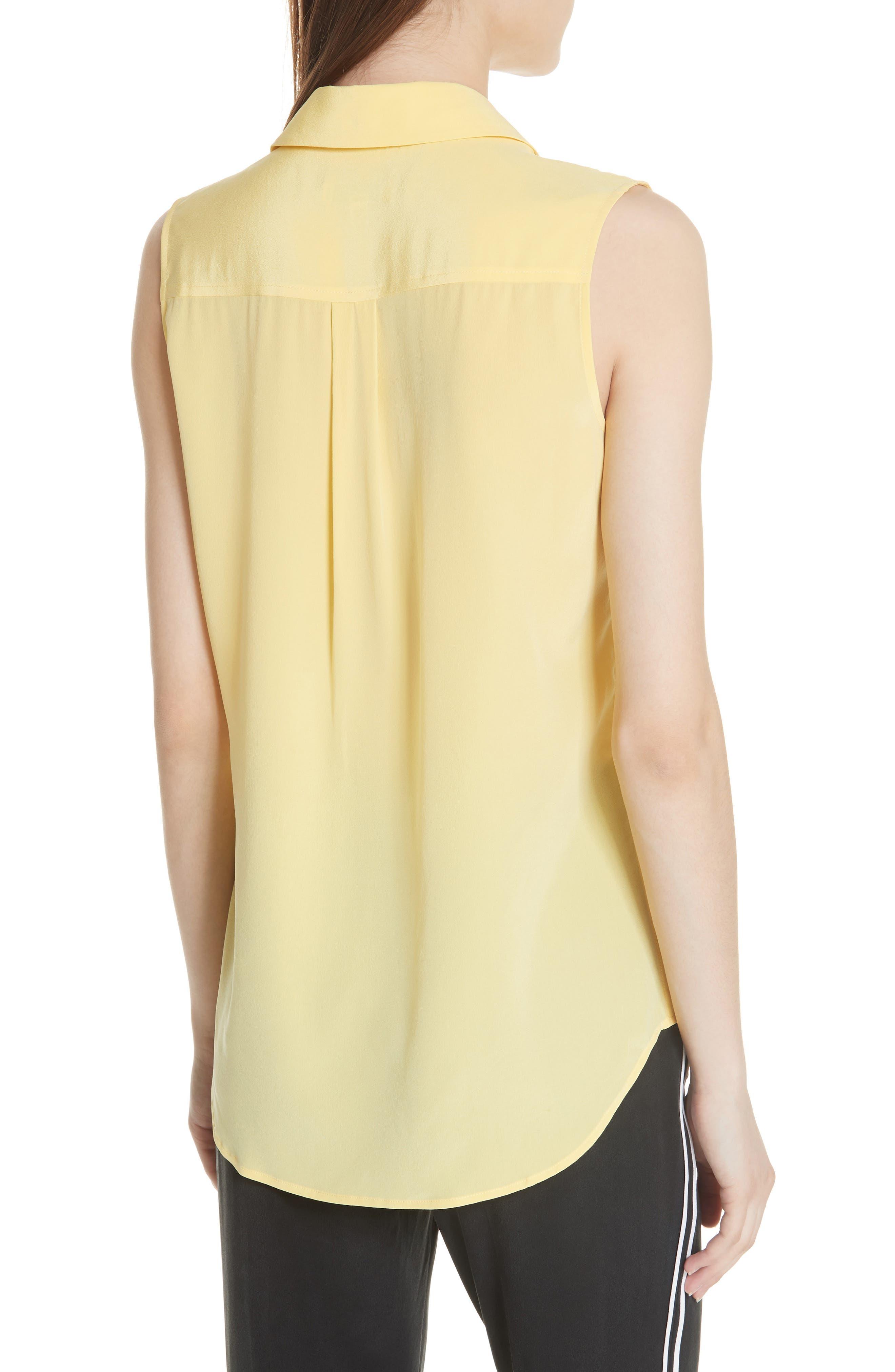 'Slim Signature' Sleeveless Silk Shirt,                             Alternate thumbnail 53, color,