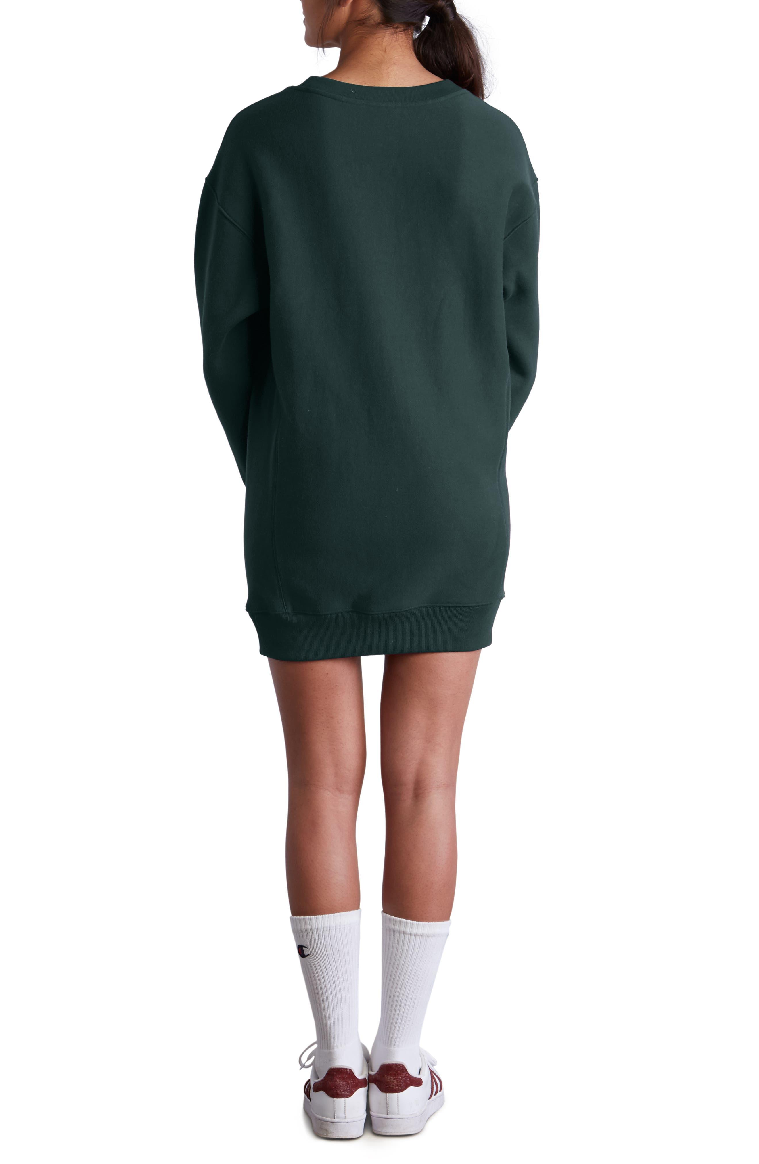 Reverse Weave<sup>®</sup> Sweatshirt Dress,                             Alternate thumbnail 2, color,                             LAKESIDE GREEN