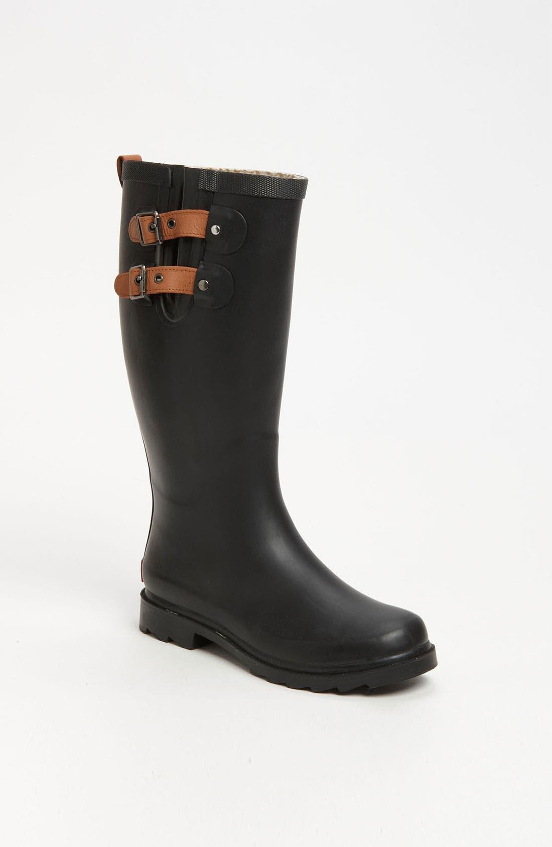 'Top Solid' Rain Boot,                             Main thumbnail 1, color,                             001