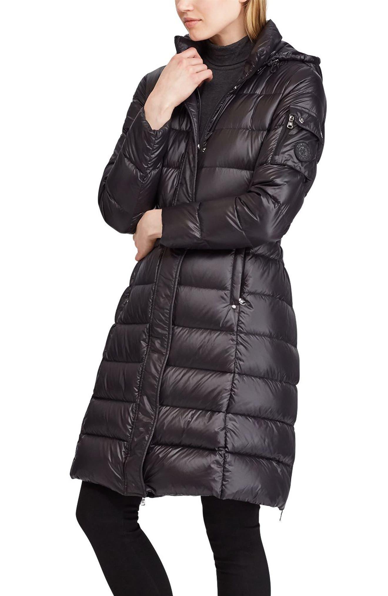 LAUREN RALPH LAUREN Packable Down Coat, Main, color, 001