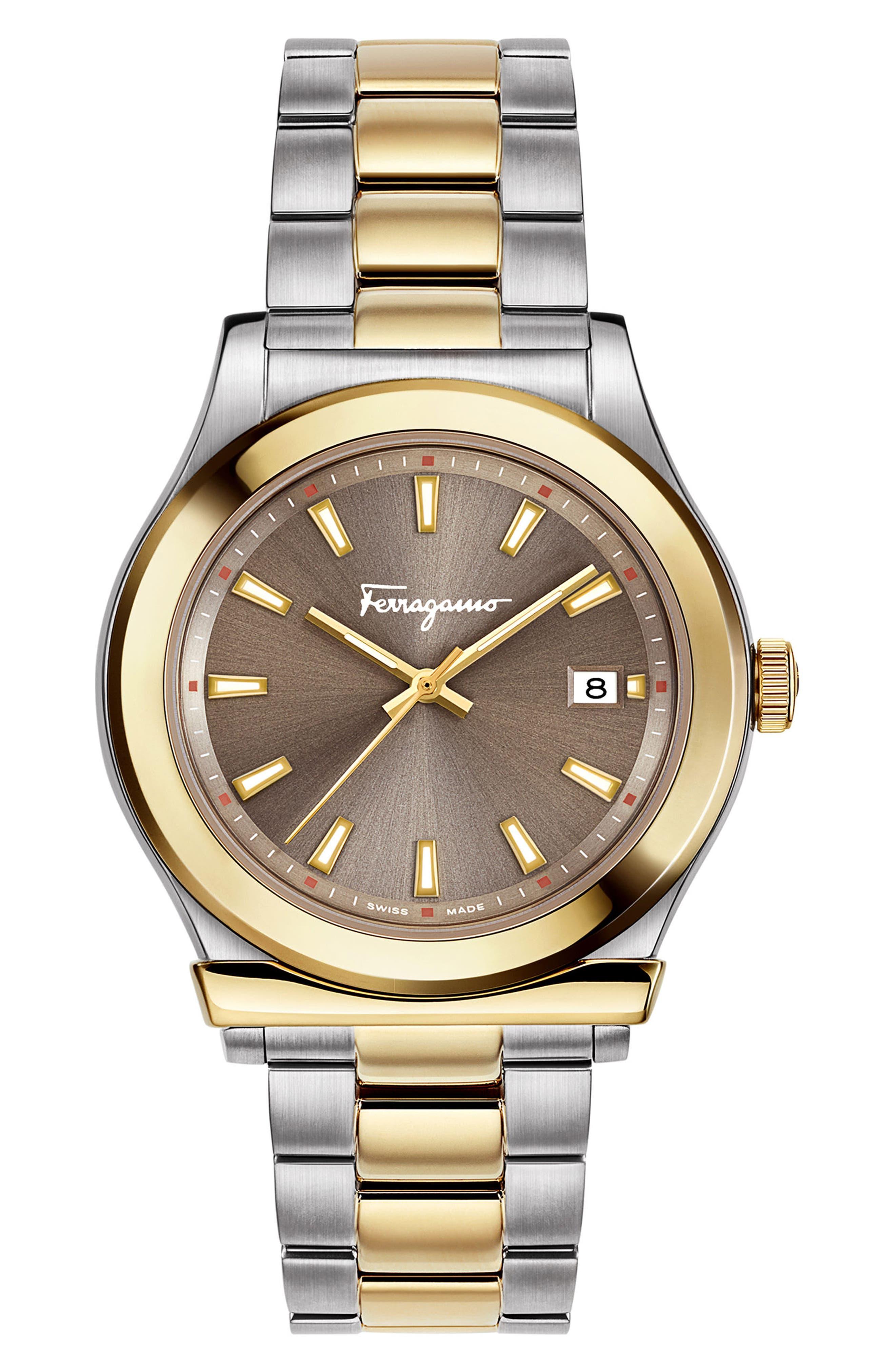 1898 Bracelet Watch, 40mm,                             Main thumbnail 1, color,                             SILVER/ GREY/ GOLD