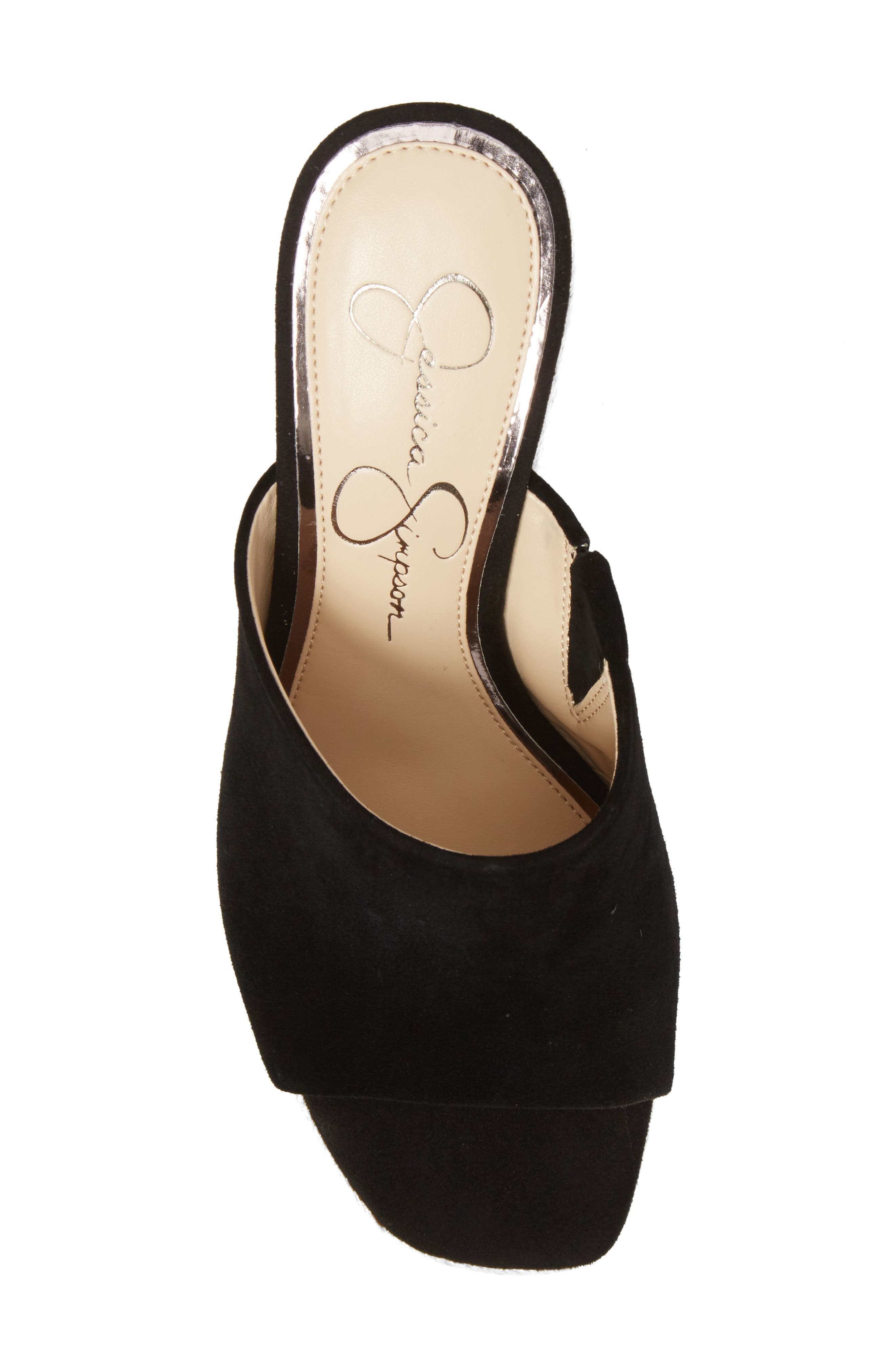 Sirella Platform Wedge Slide Sandal,                             Alternate thumbnail 5, color,                             001