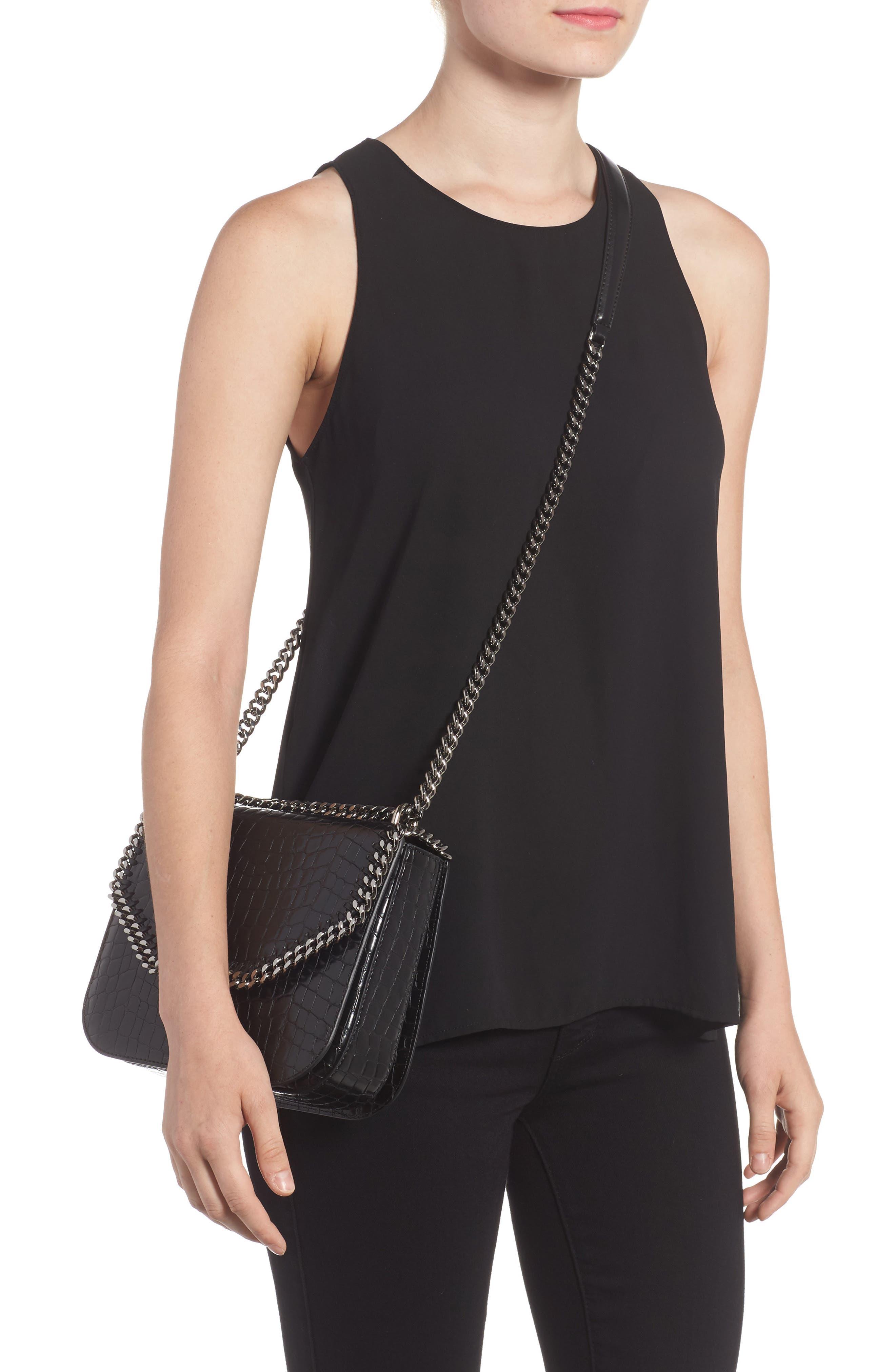 Falabella Box Faux Leather Shoulder Bag,                             Alternate thumbnail 3, color,
