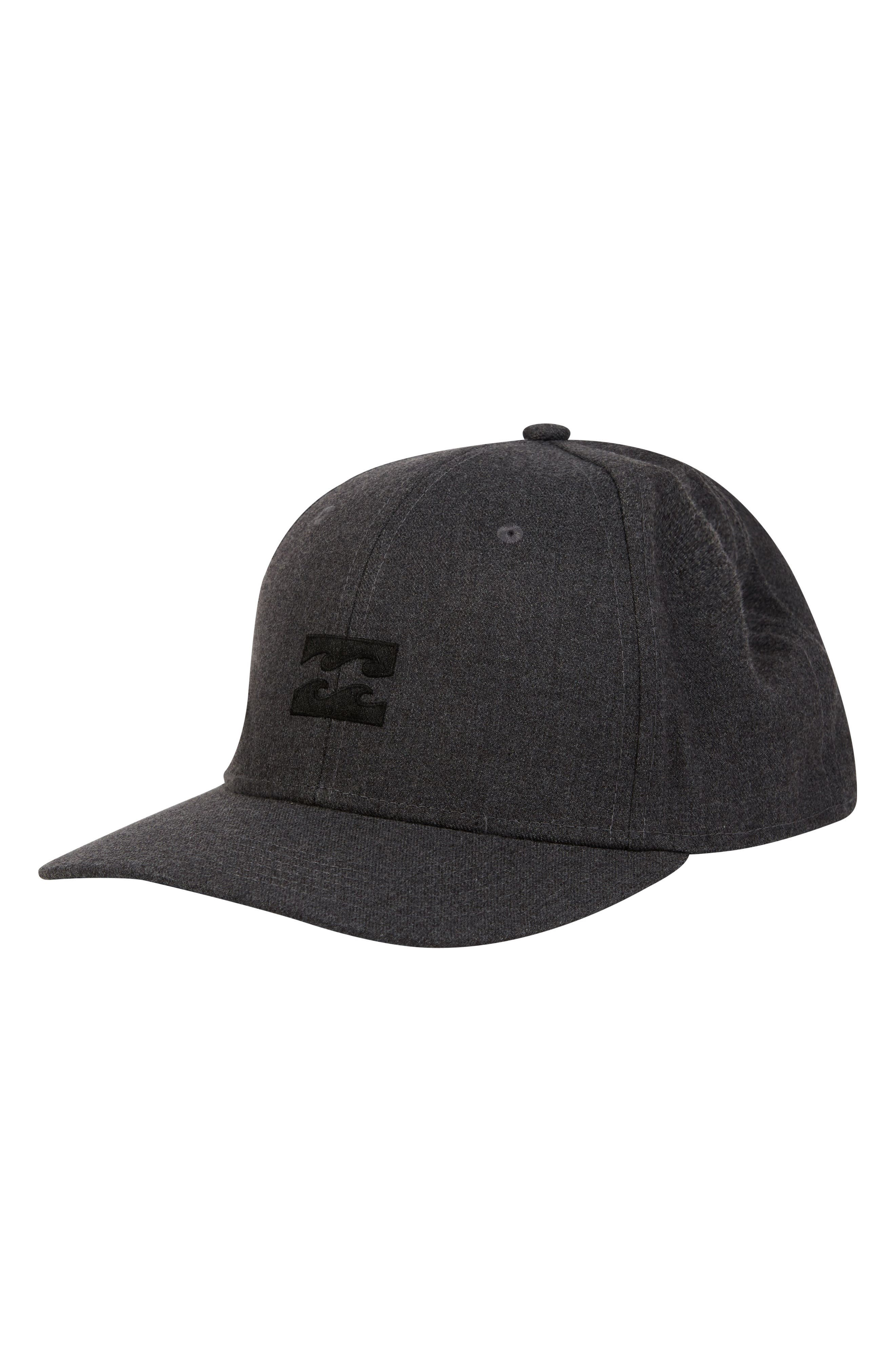 All Day Stretch Ball Cap,                             Main thumbnail 1, color,                             DARK GREY HEATHER