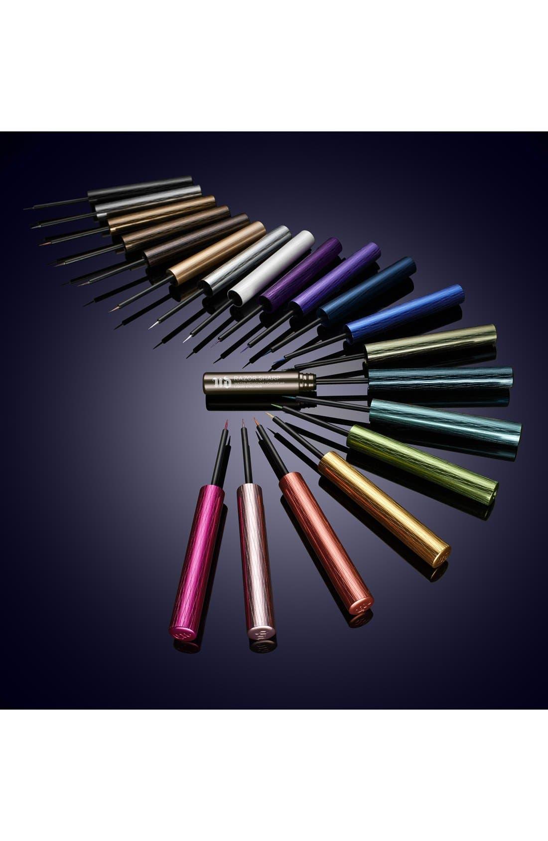 Razor Sharp Water-Resistant Longwear Liquid Eyeliner,                             Alternate thumbnail 3, color,                             PERVERSION