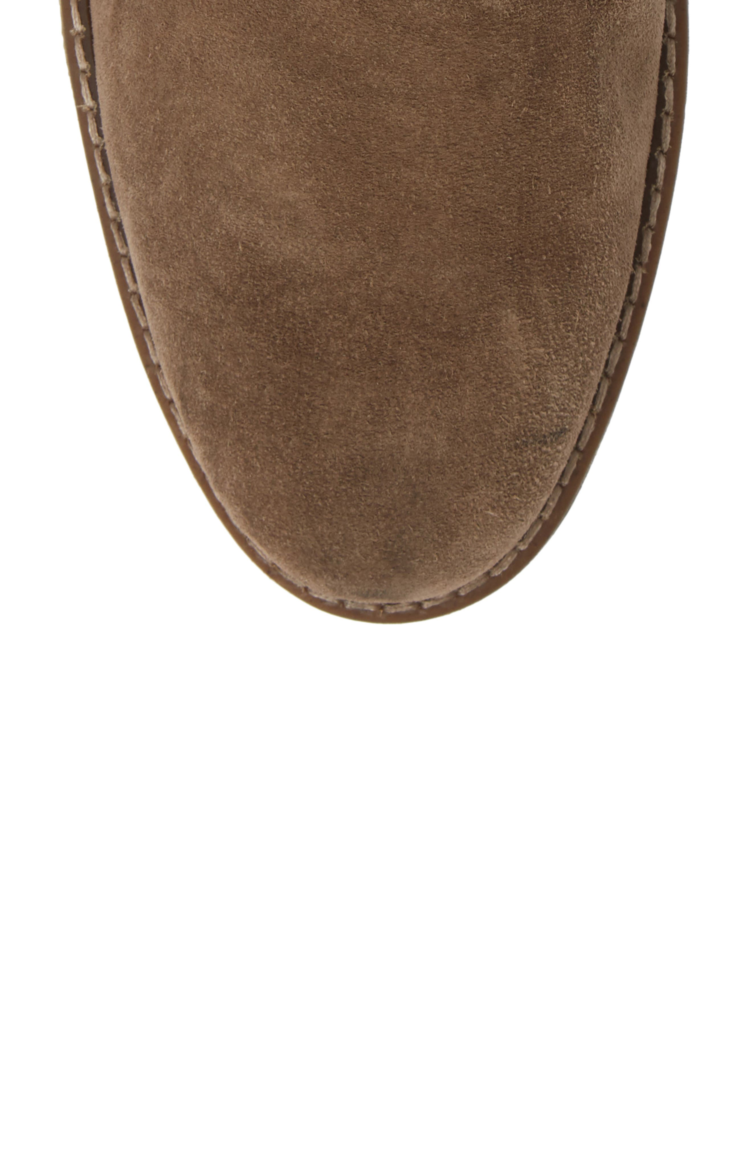 Stevens Waterproof Chukka Boot,                             Alternate thumbnail 5, color,                             TAUPE SUEDE
