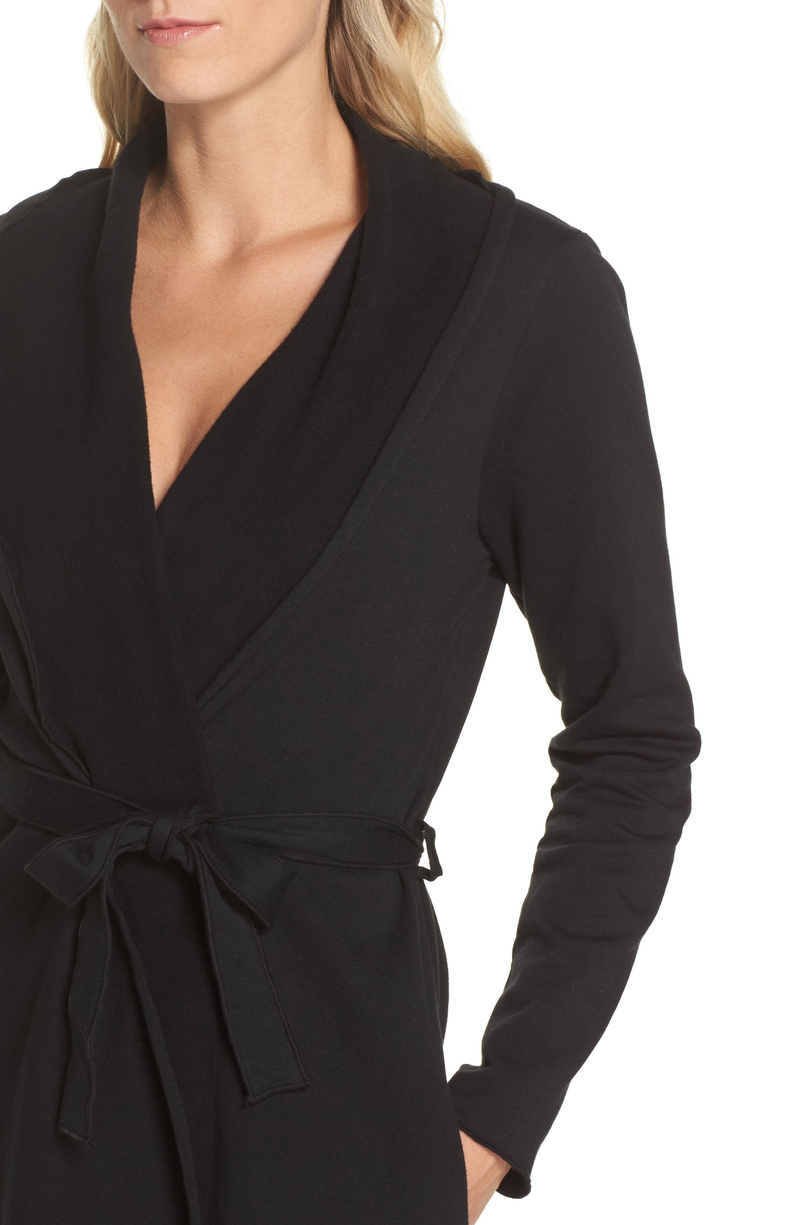 Willa Fleece Short Robe,                             Alternate thumbnail 7, color,