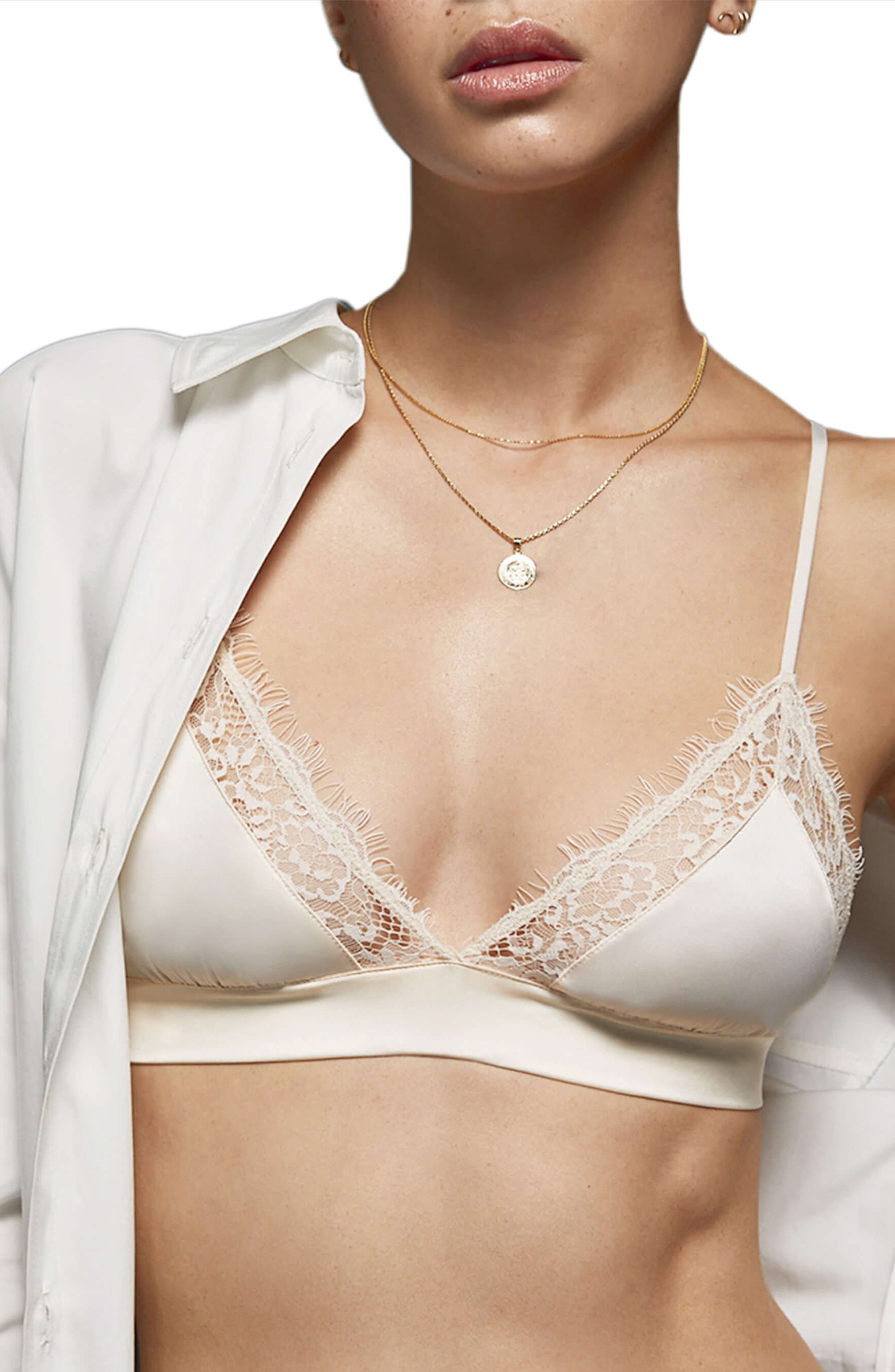 Winnie Bralette,                             Main thumbnail 1, color,                             WHITE