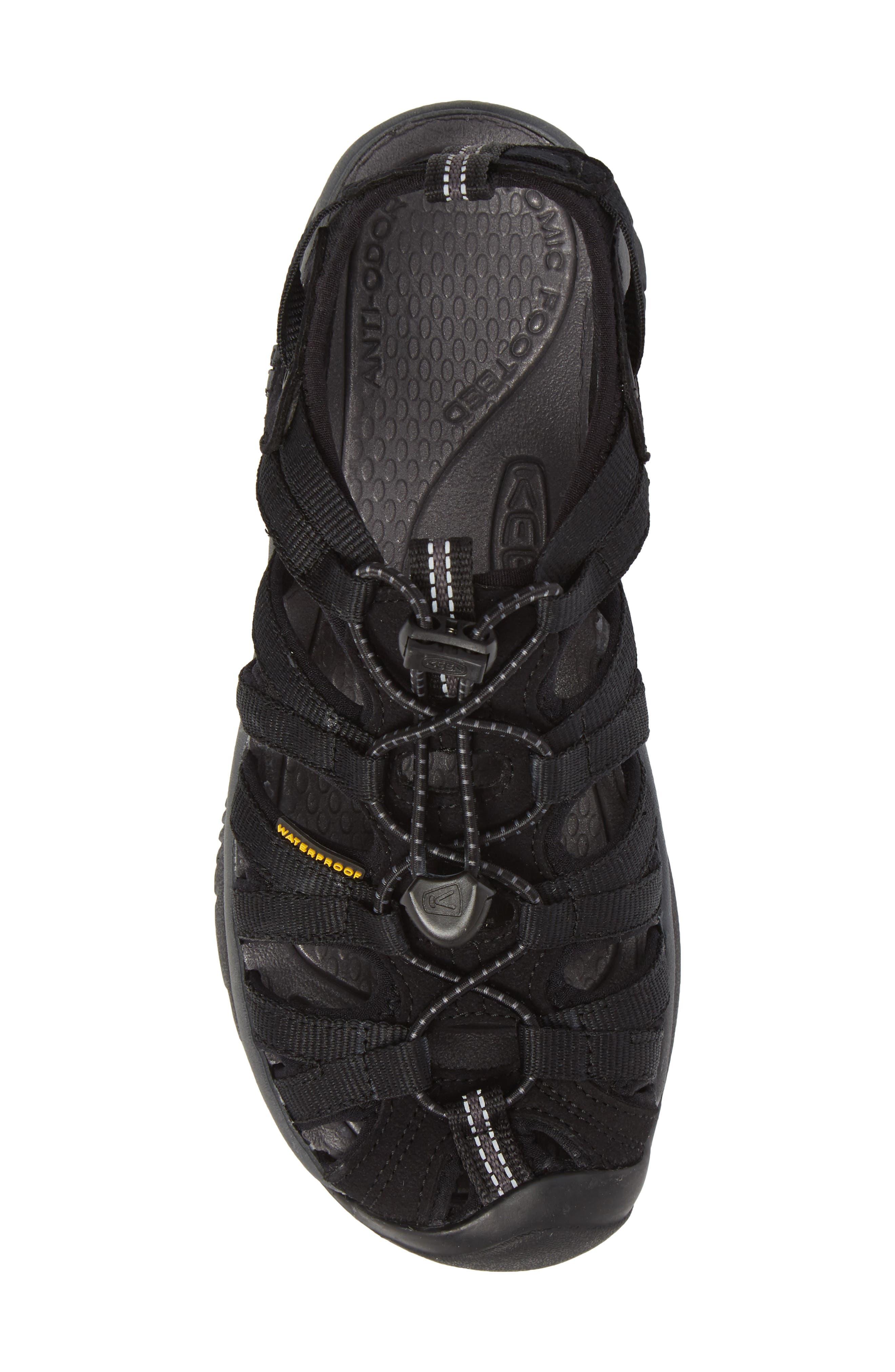 'Whisper' Water Friendly Sport Sandal,                             Alternate thumbnail 5, color,                             BLACK/ MAGNET
