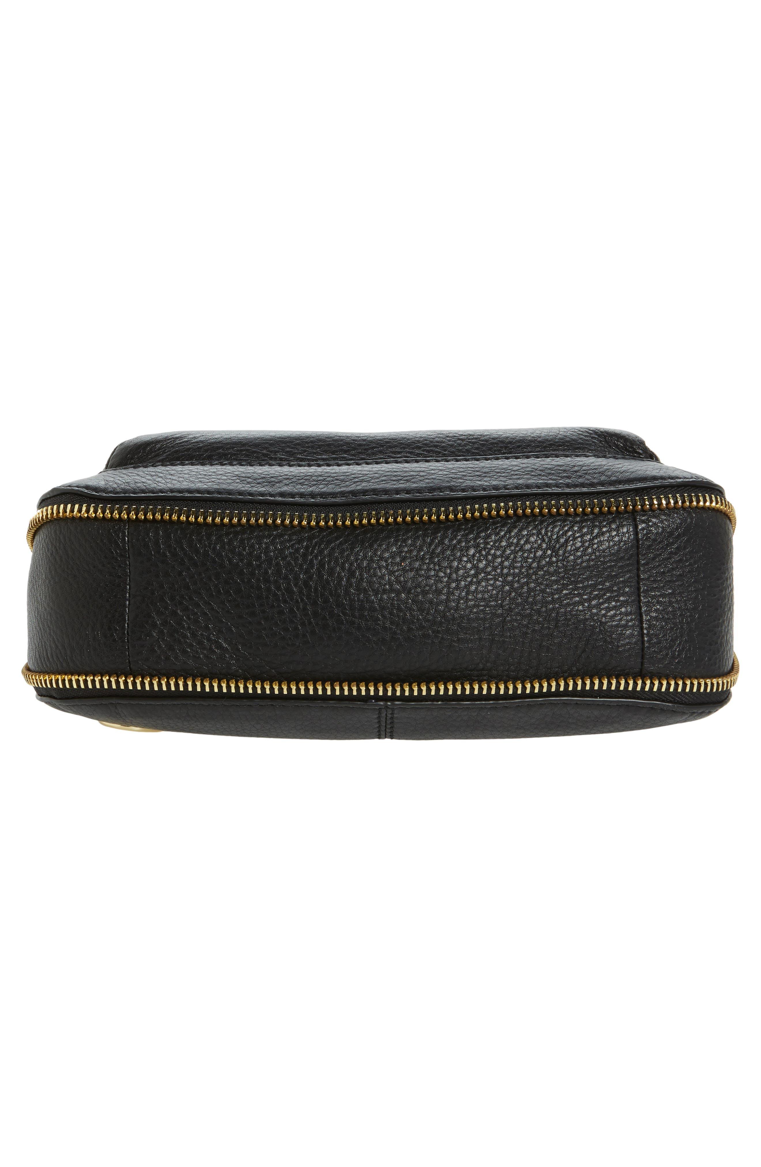 Adina Leather Crossbody Bag,                             Alternate thumbnail 6, color,                             001