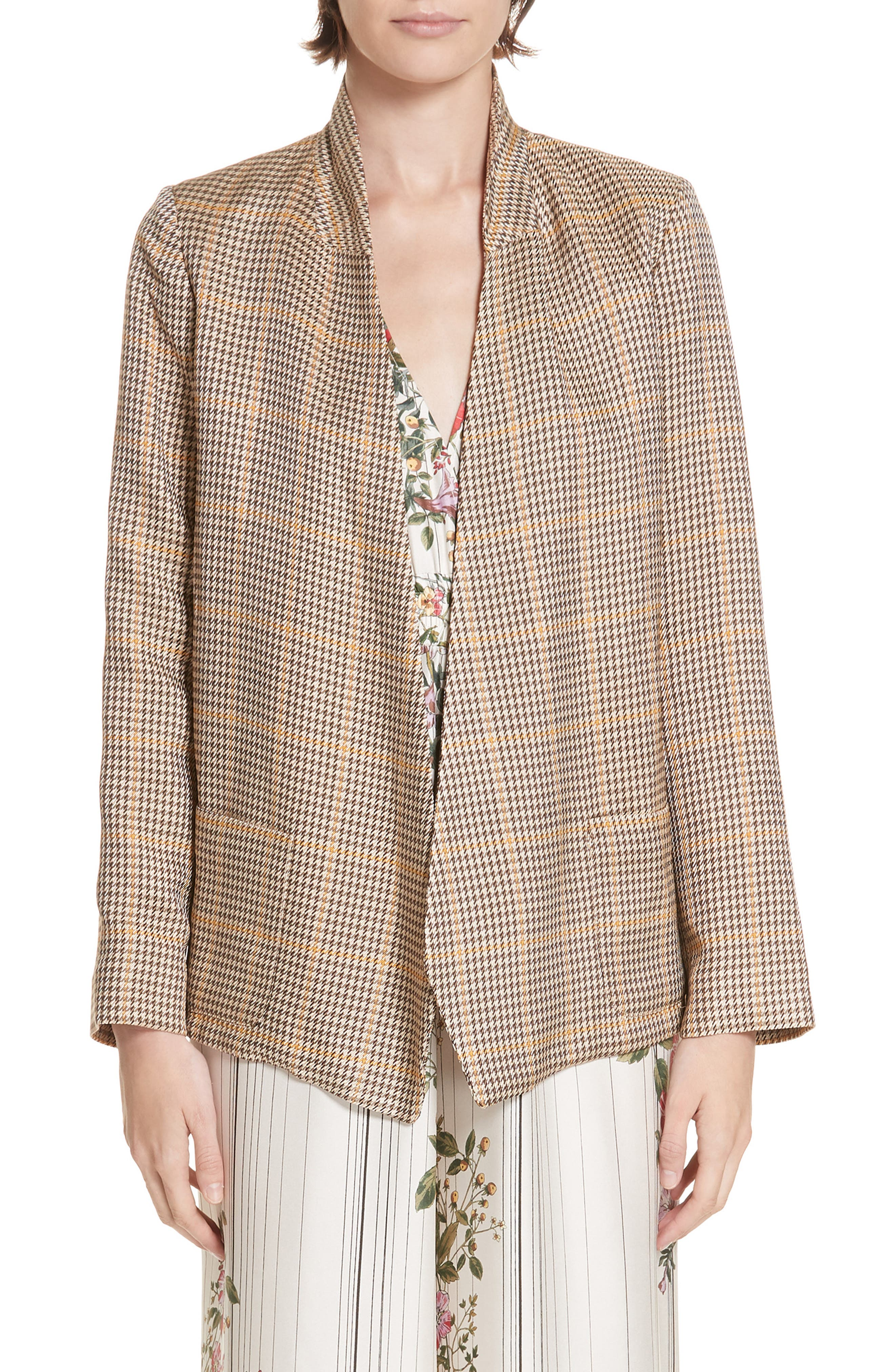 ROSEANNA Tippee Houndstooth Jacket in Multigold