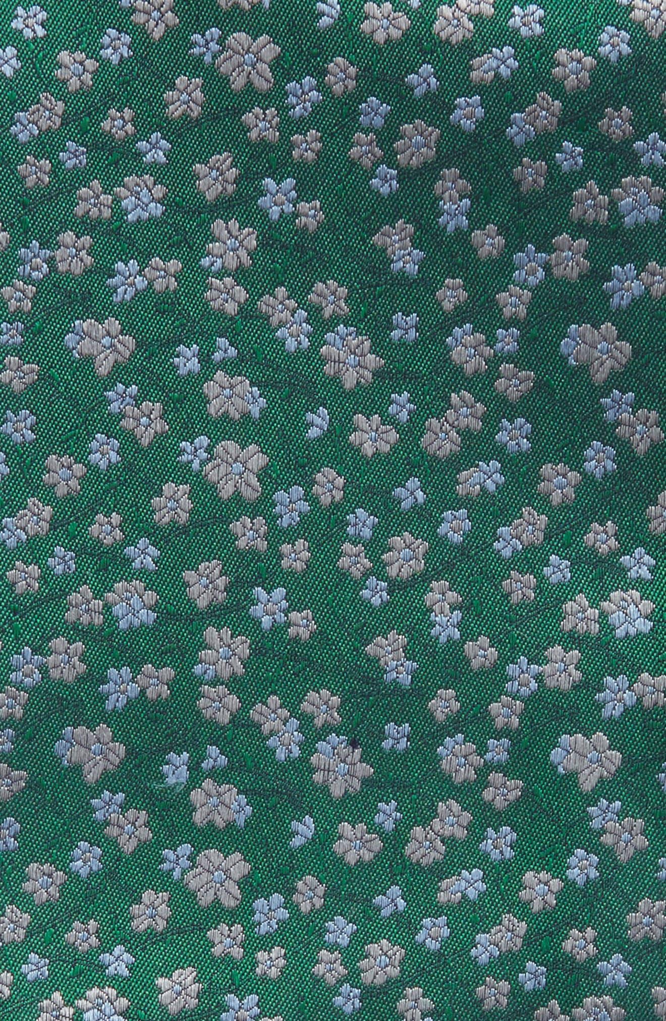 Free Fall Floral Silk Pocket Square,                             Alternate thumbnail 3, color,                             322