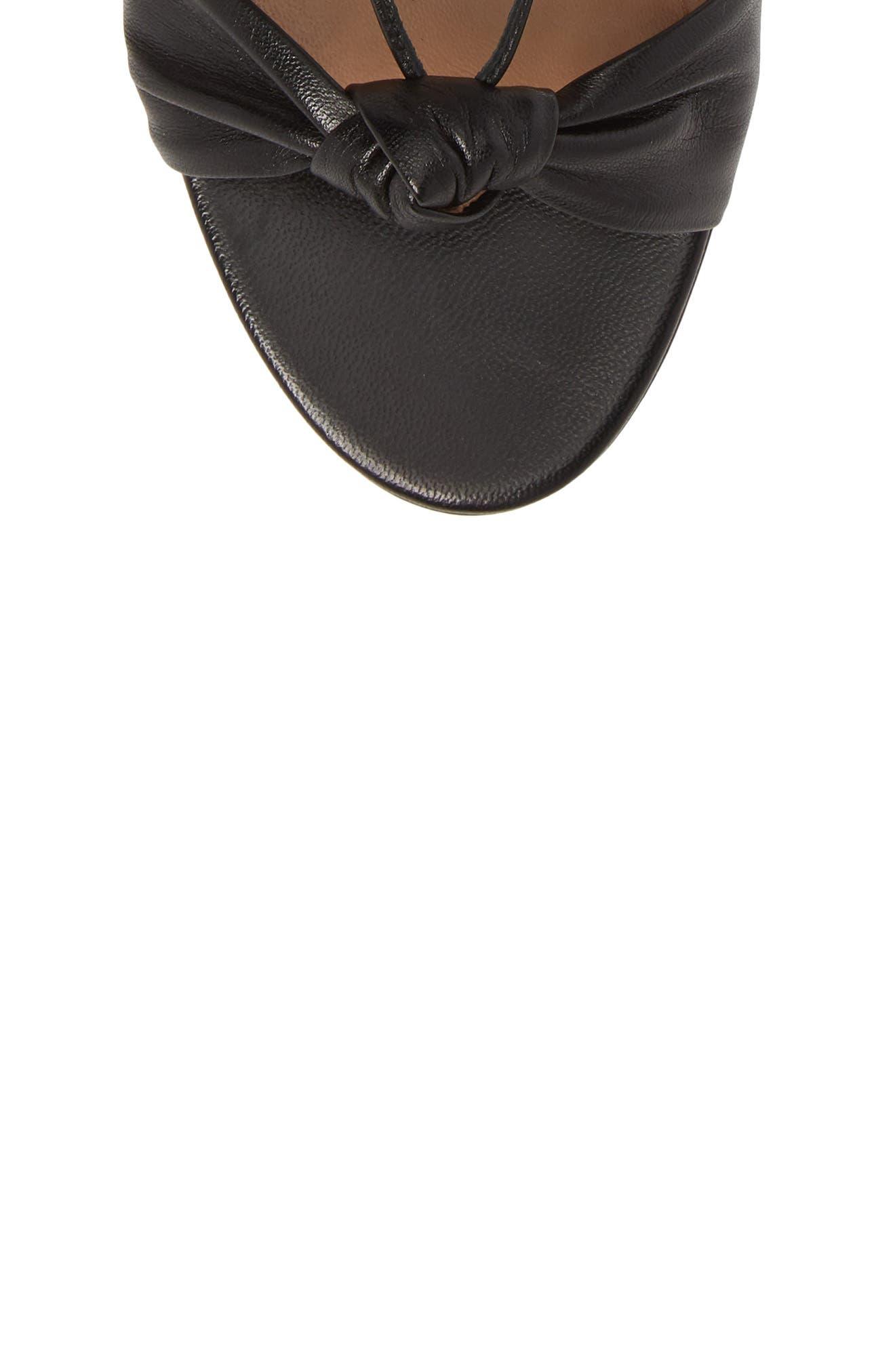 Virginie Lace-Up Sandal,                             Alternate thumbnail 5, color,                             BLACK