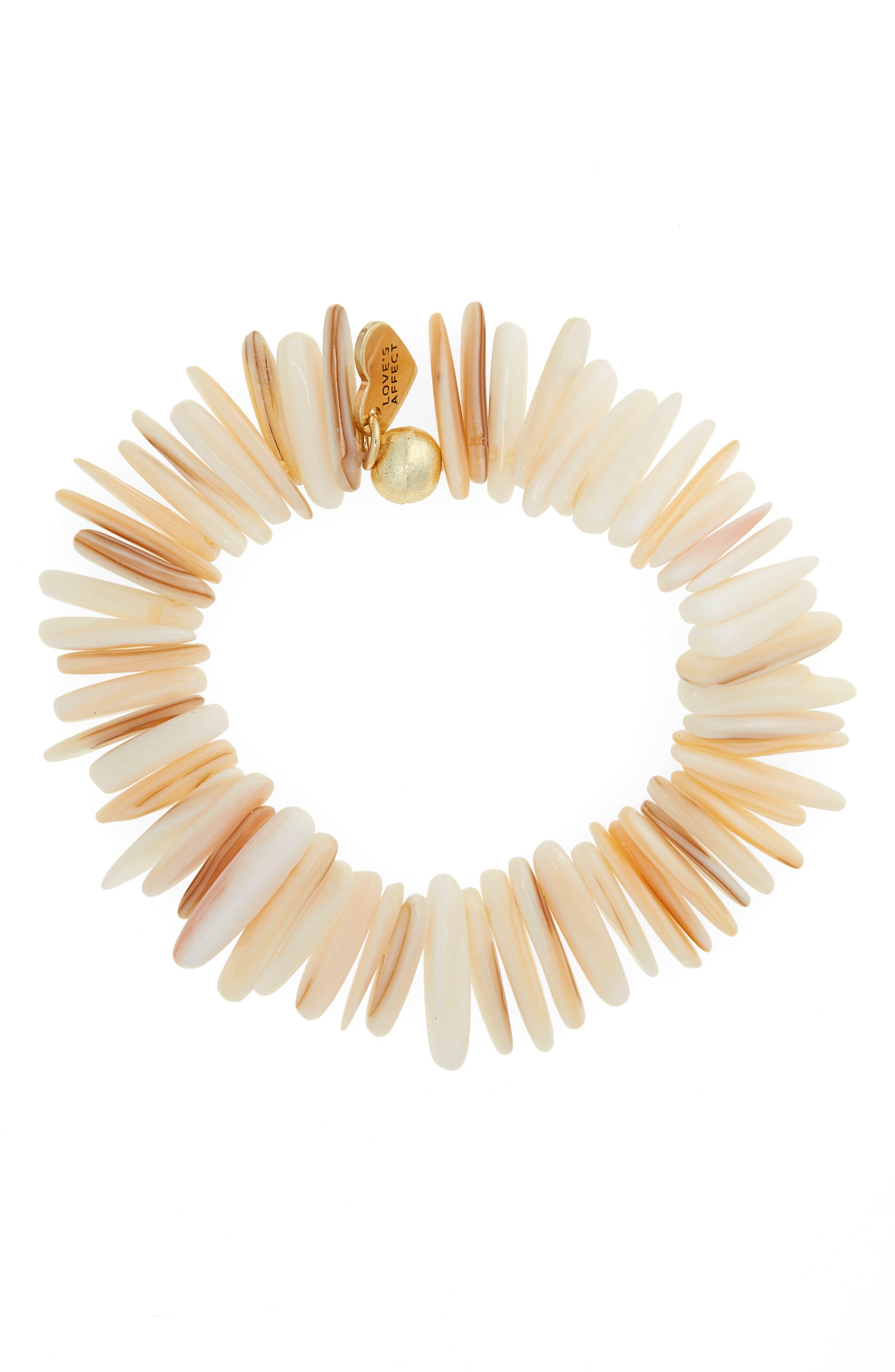 Love's Affect Jenna Semiprecious Stretch Bracelet,                             Main thumbnail 1, color,