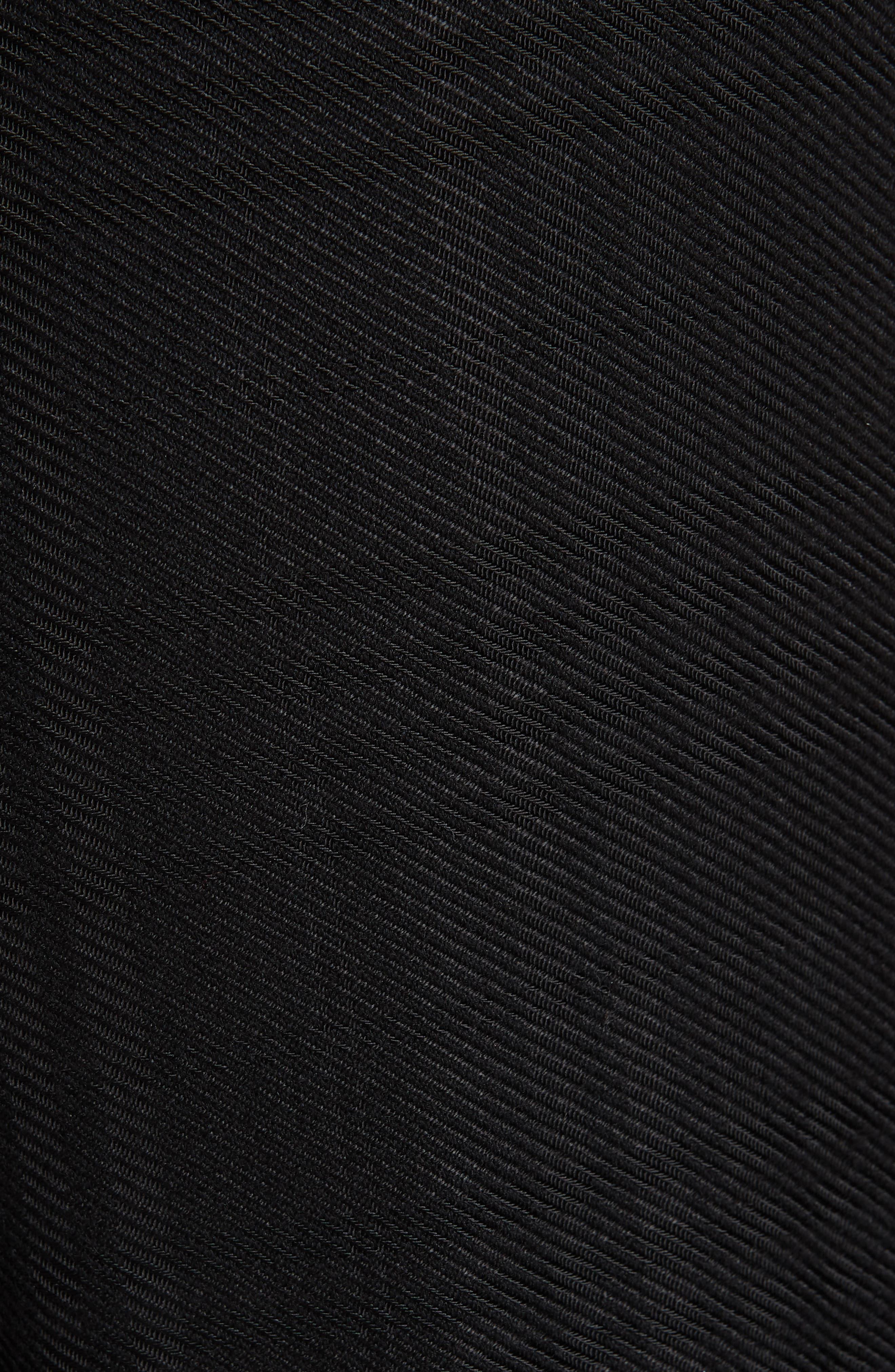Tuli Check Button Detail Pants,                             Alternate thumbnail 5, color,                             BLACK/ BLACK