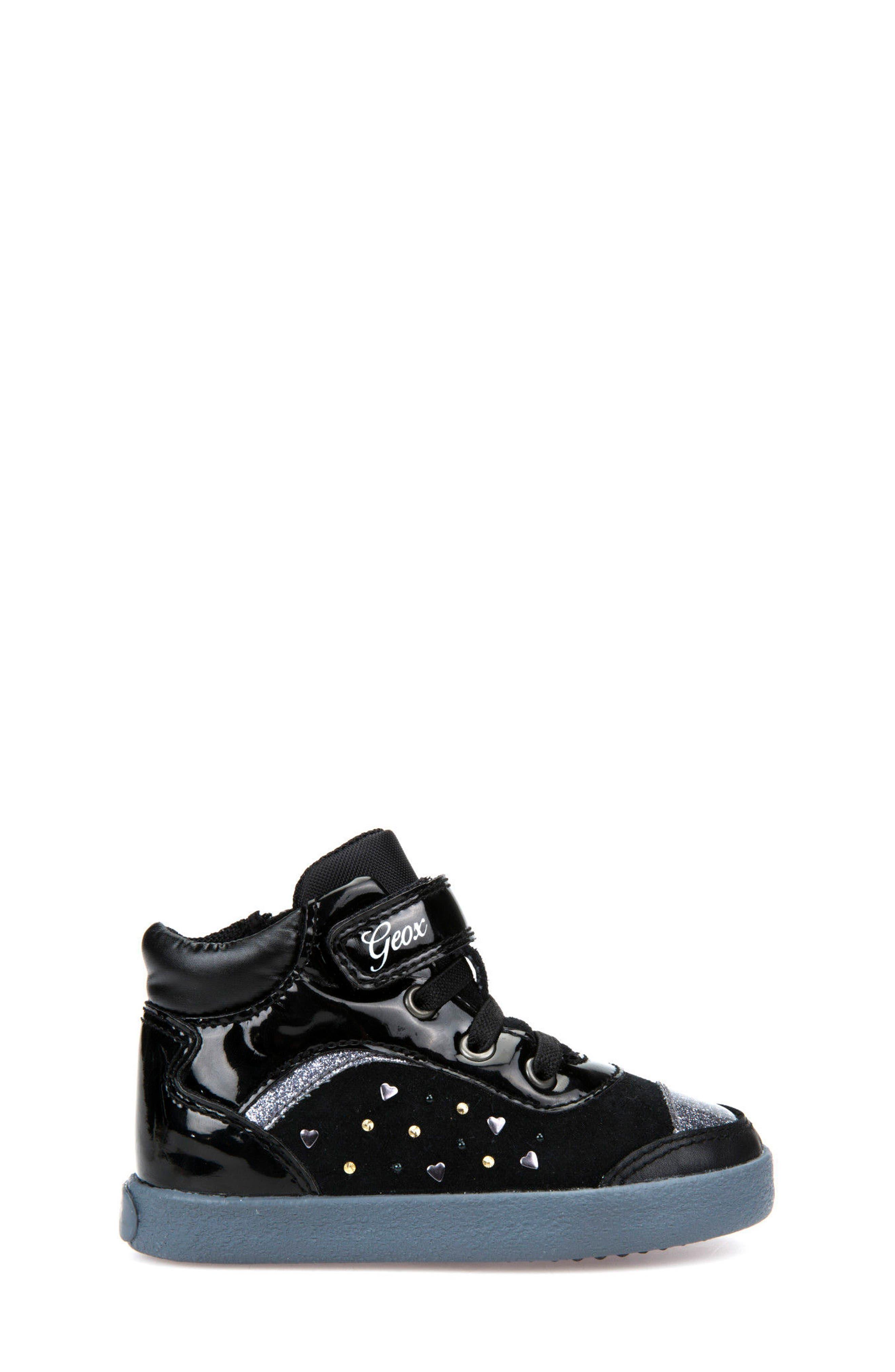 Kiwi Girl Studded High Top Sneaker,                             Alternate thumbnail 7, color,