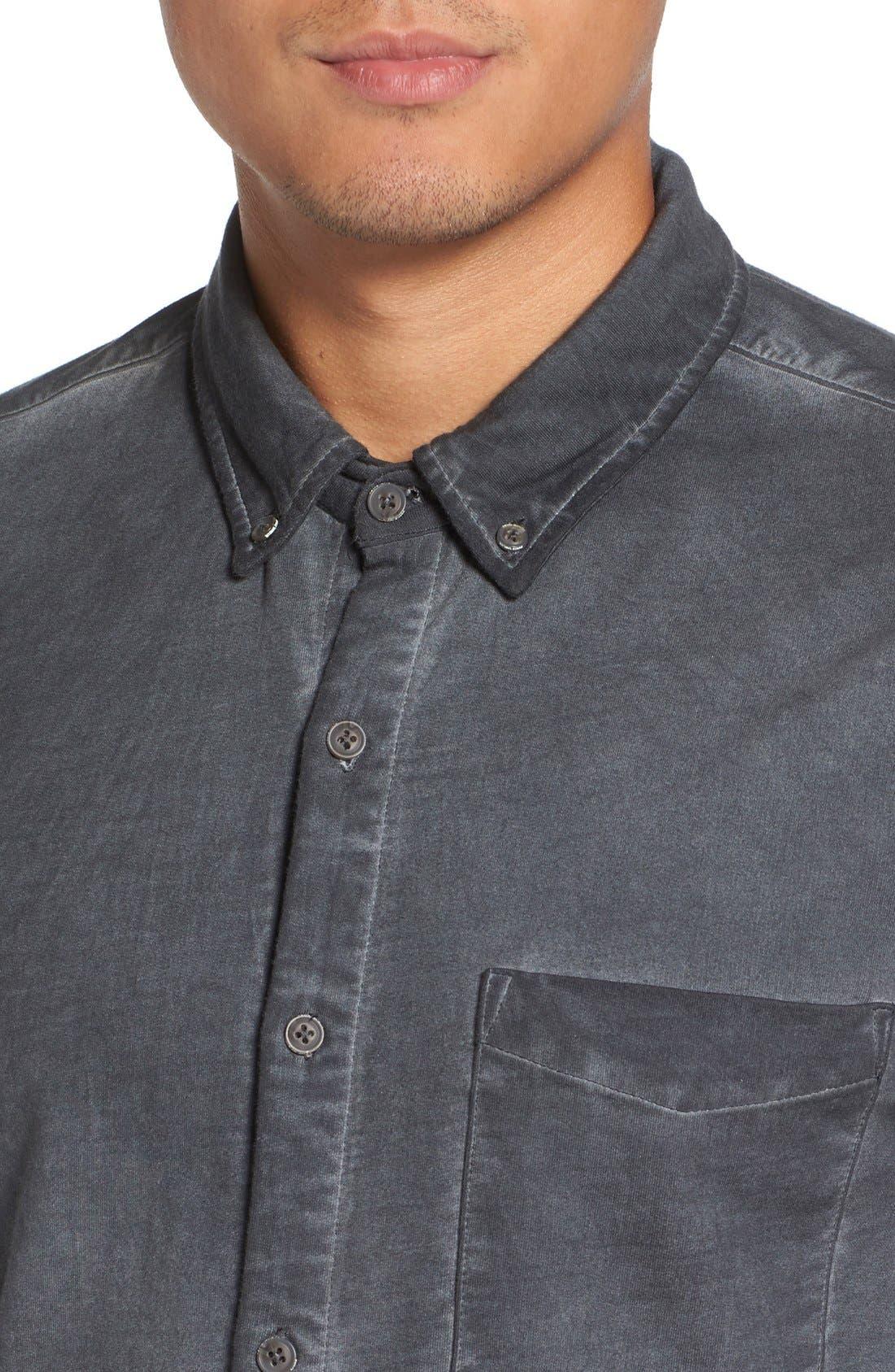 Slim Fit Garment Washed Sport Shirt,                             Alternate thumbnail 11, color,