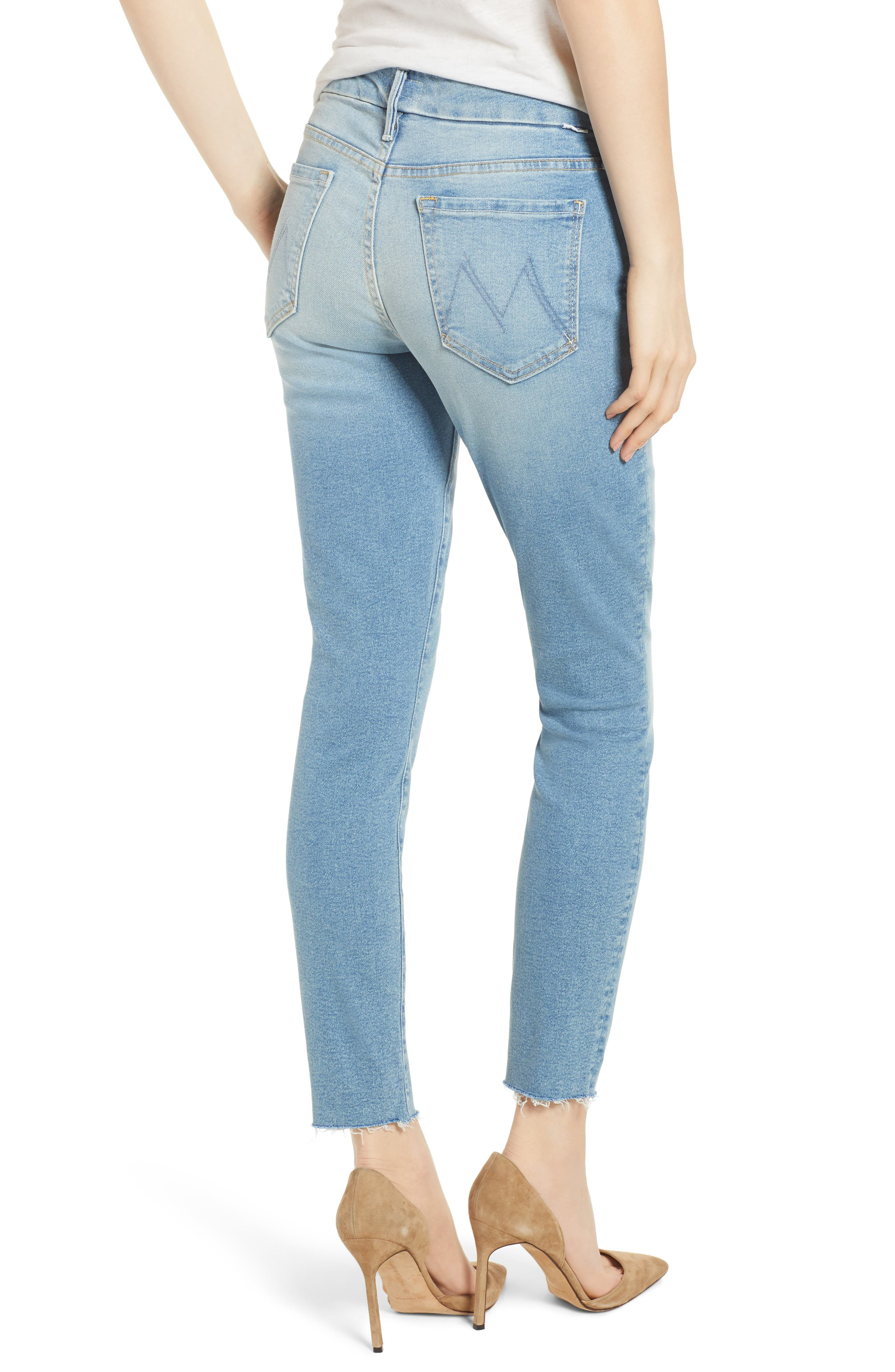 The Looker Fray Ankle Skinny Jeans,                             Alternate thumbnail 2, color,                             400