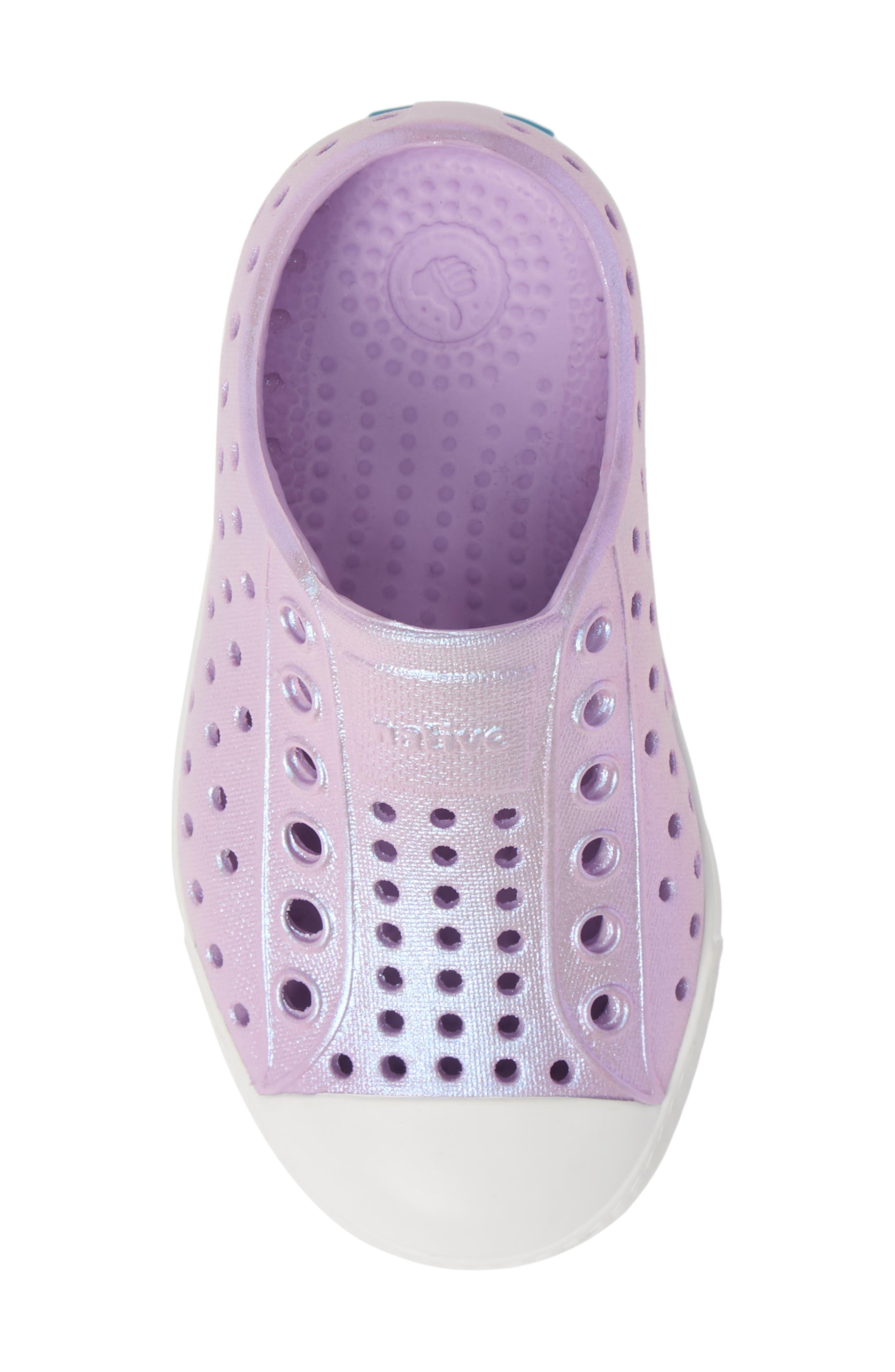 Jefferson Iridescent Slip-On Vegan Sneaker,                             Alternate thumbnail 5, color,                             LAVENDER/ SHELL WHITE/ GALAXY