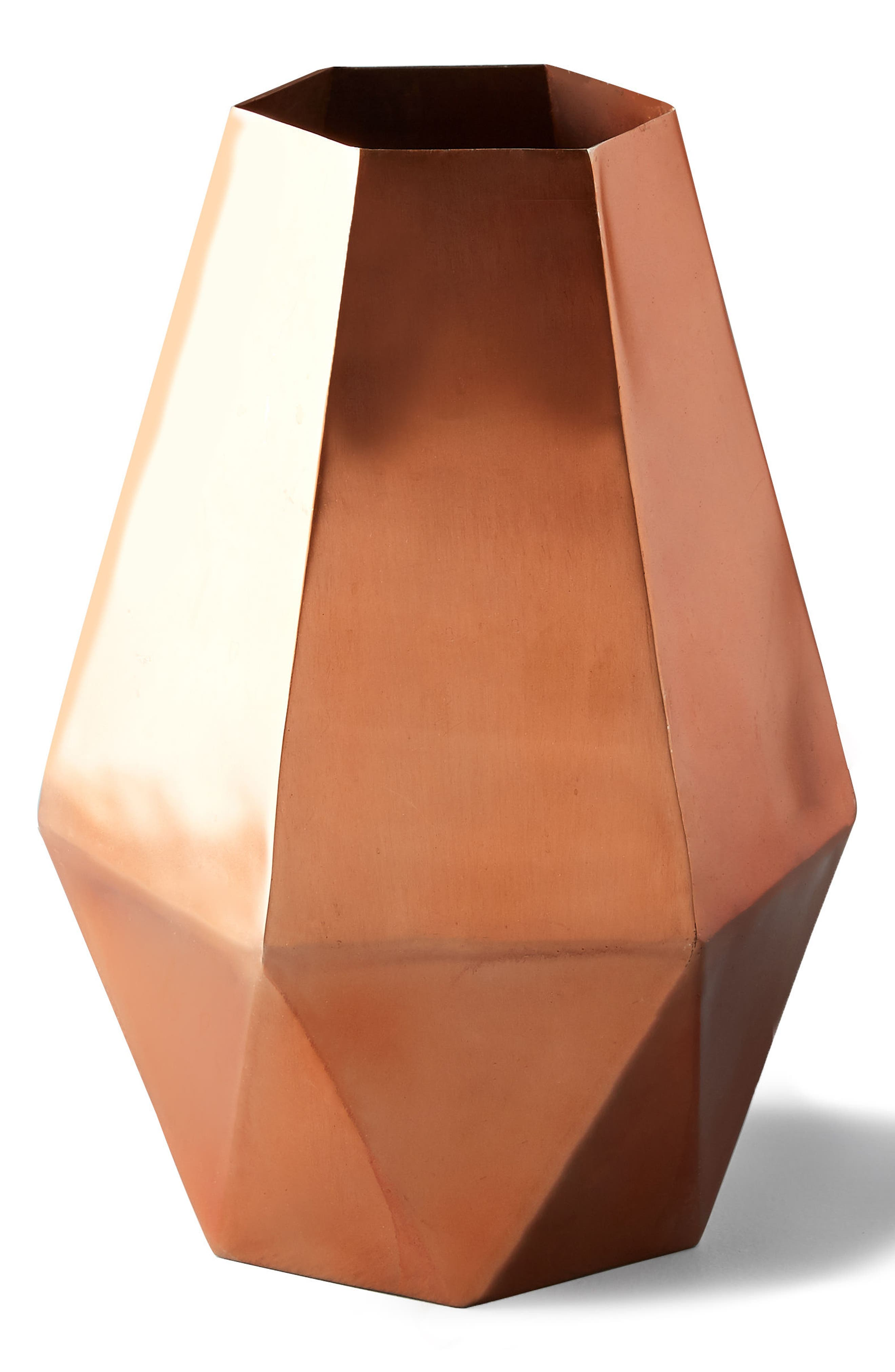 Faceted Hexagon Metal Vase,                             Alternate thumbnail 2, color,                             220