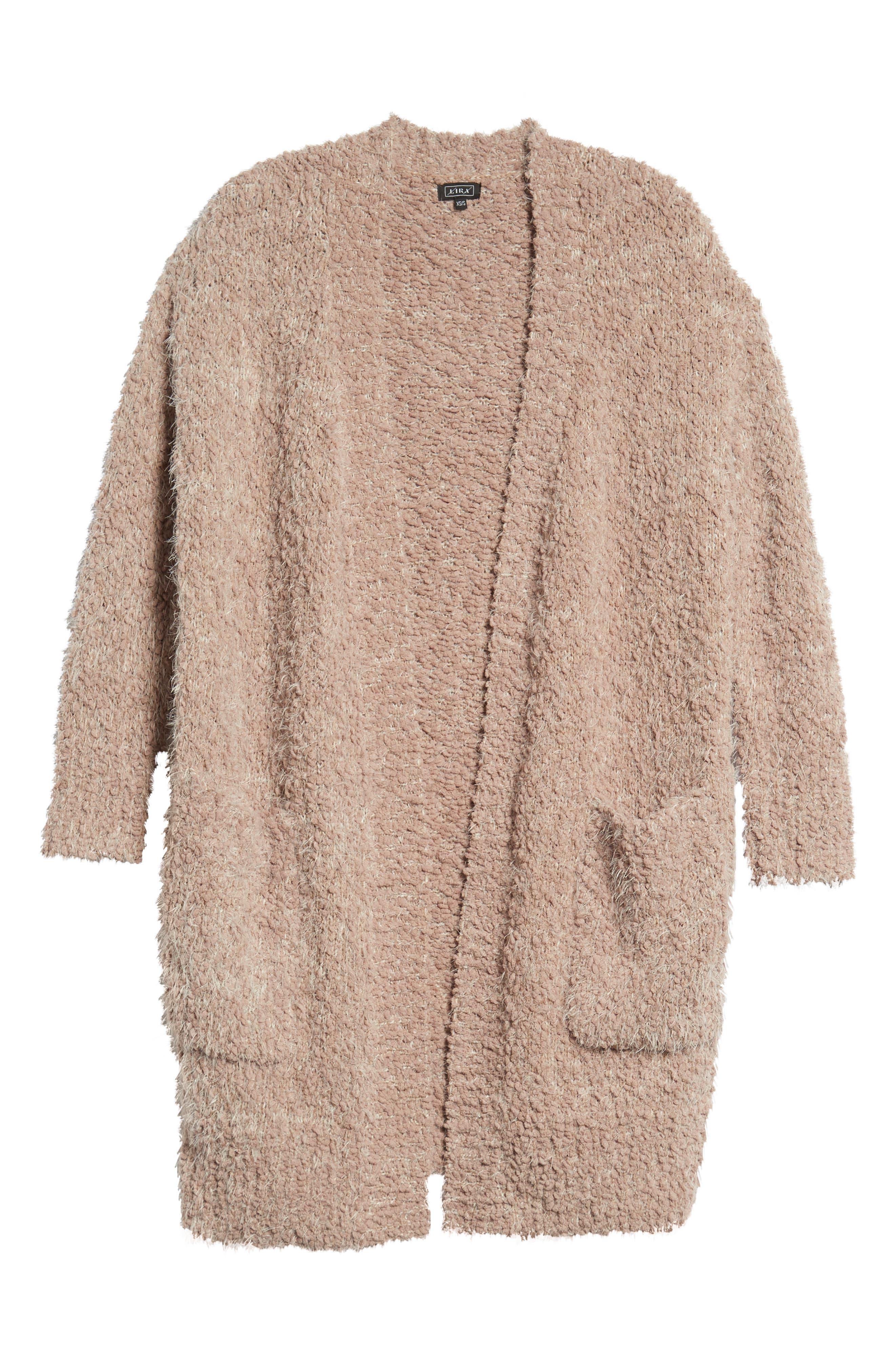 LIRA CLOTHING,                             Miranda Knit Cardigan,                             Alternate thumbnail 6, color,                             DUSTY ROSE