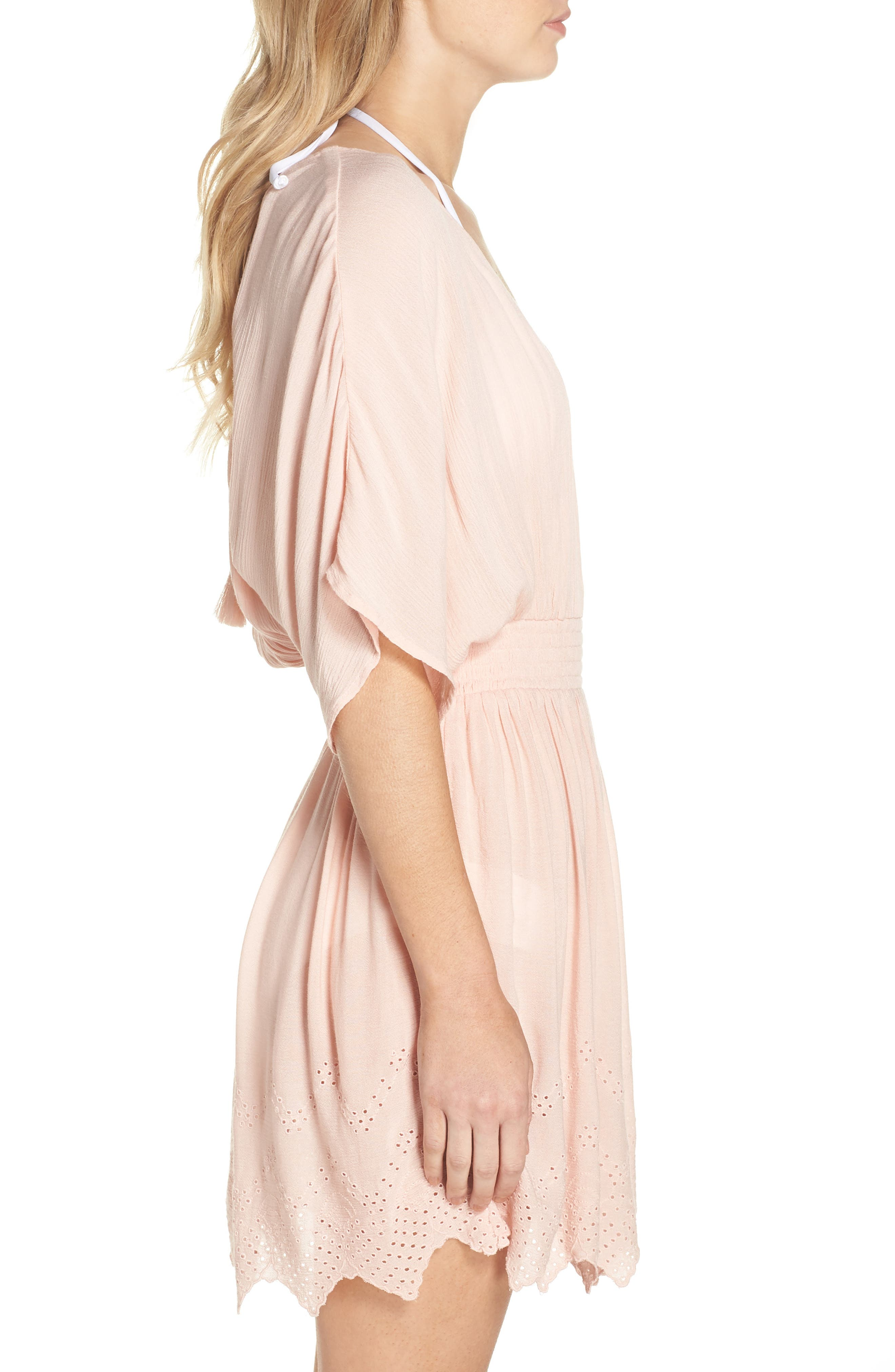 Goddess Cover-Up Dress,                             Alternate thumbnail 3, color,                             PINK ROSECLOUD
