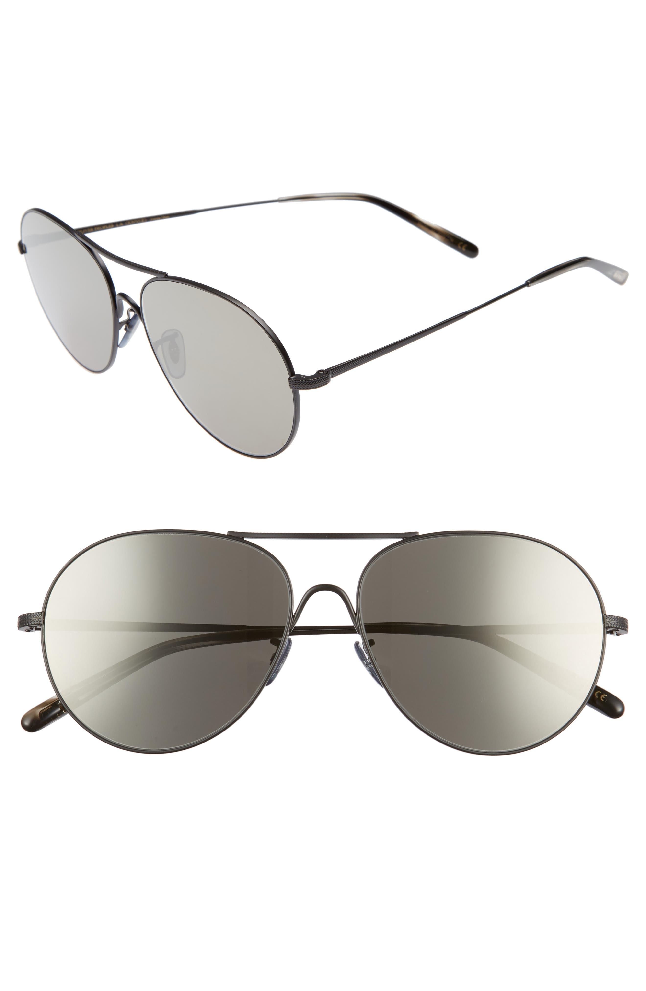 Rockmore 58mm Aviator Sunglasses,                         Main,                         color, GREY