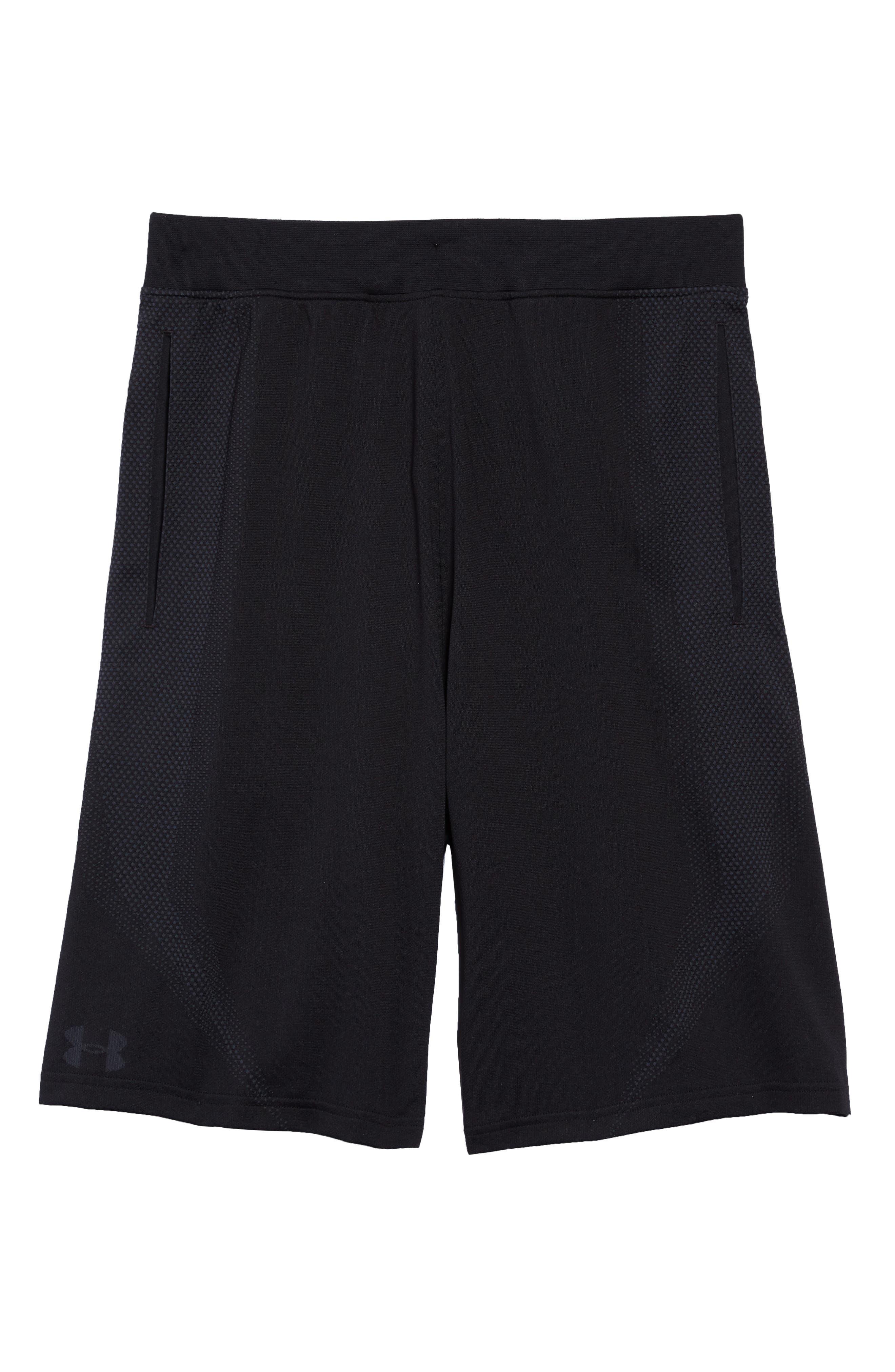 Threadborne Seamless Shorts,                             Alternate thumbnail 6, color,                             BLACK/ STEALTH GREH