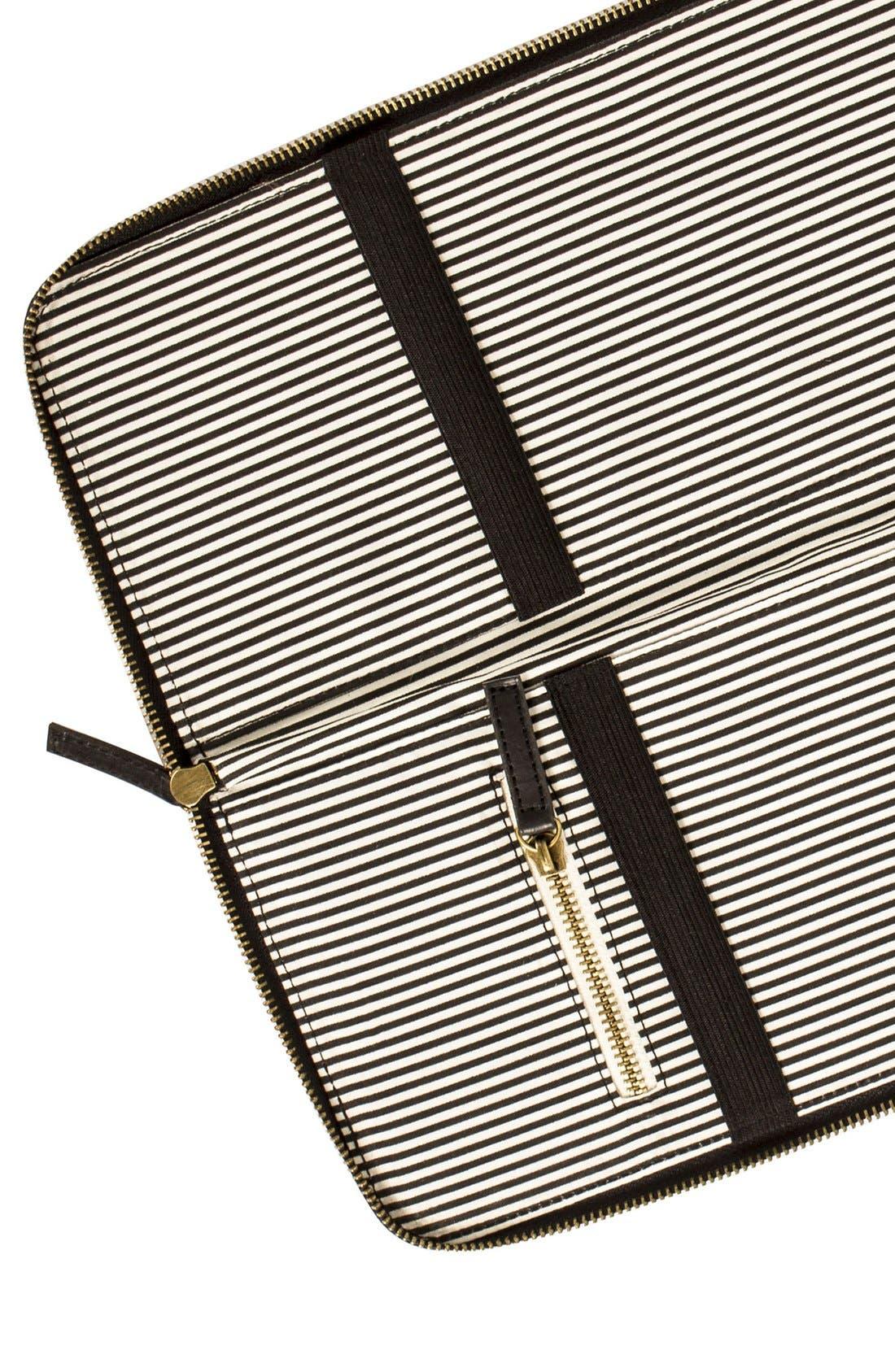 Monogram Tie Case,                             Alternate thumbnail 4, color,                             NAVY