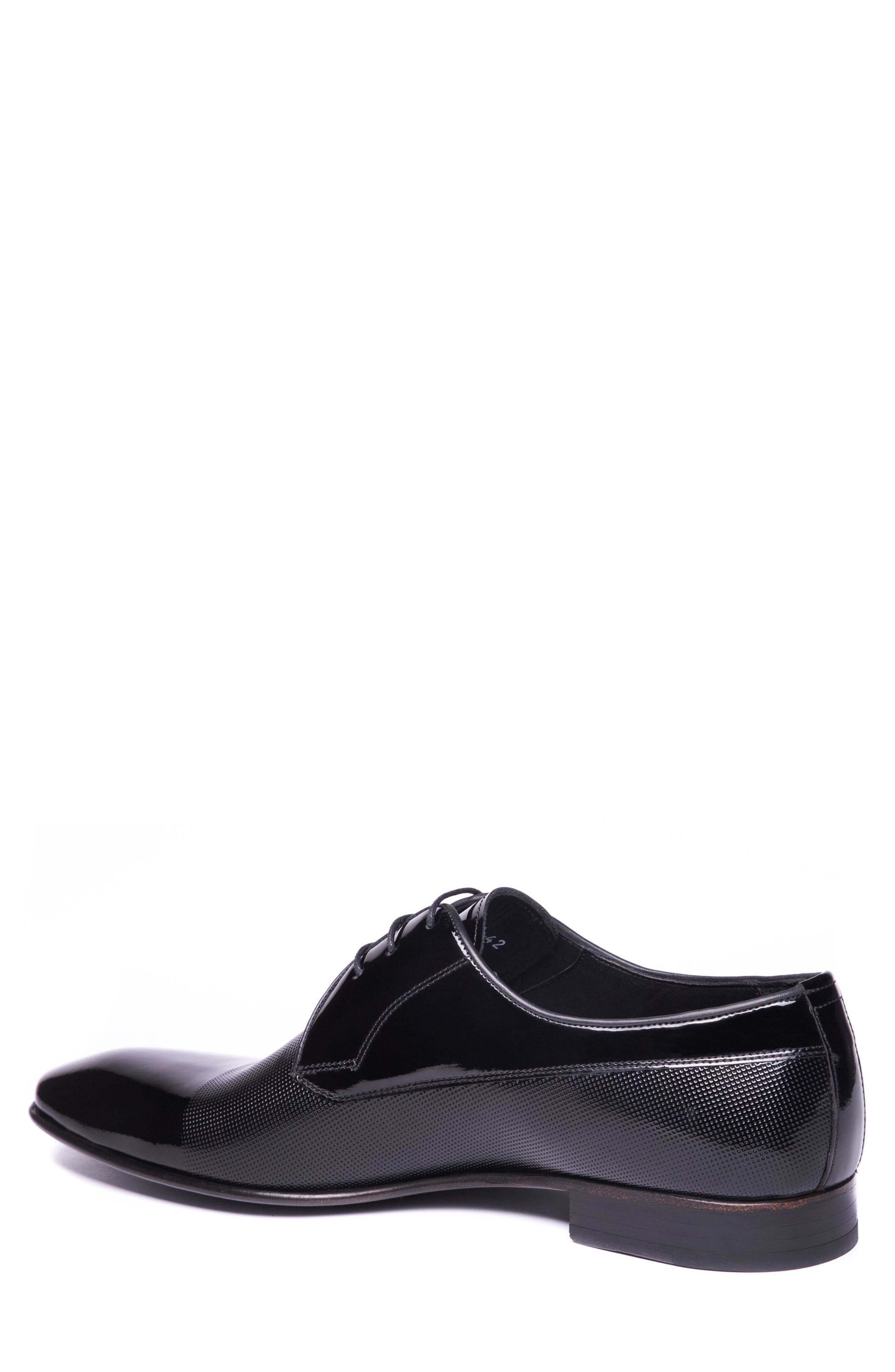 Riccardo Cap Toe Derby,                             Alternate thumbnail 2, color,                             BLACK LEATHER