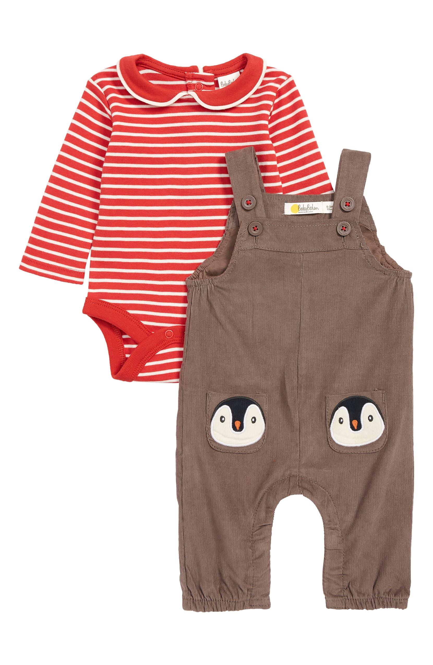 b19570d3066 Mini Boden Pocket Pet Corduroy Overalls Bodysuit Set Baby