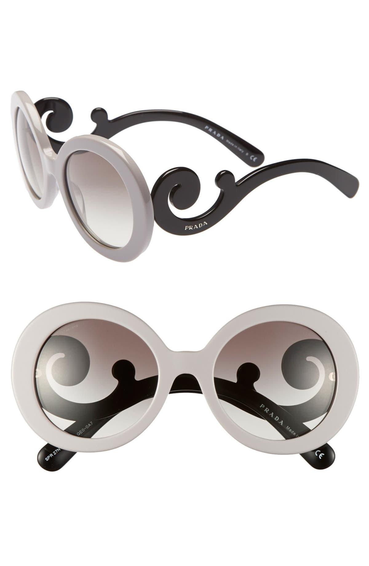 c5a4a3c31f9 Prada  Baroque  55mm Round Sunglasses