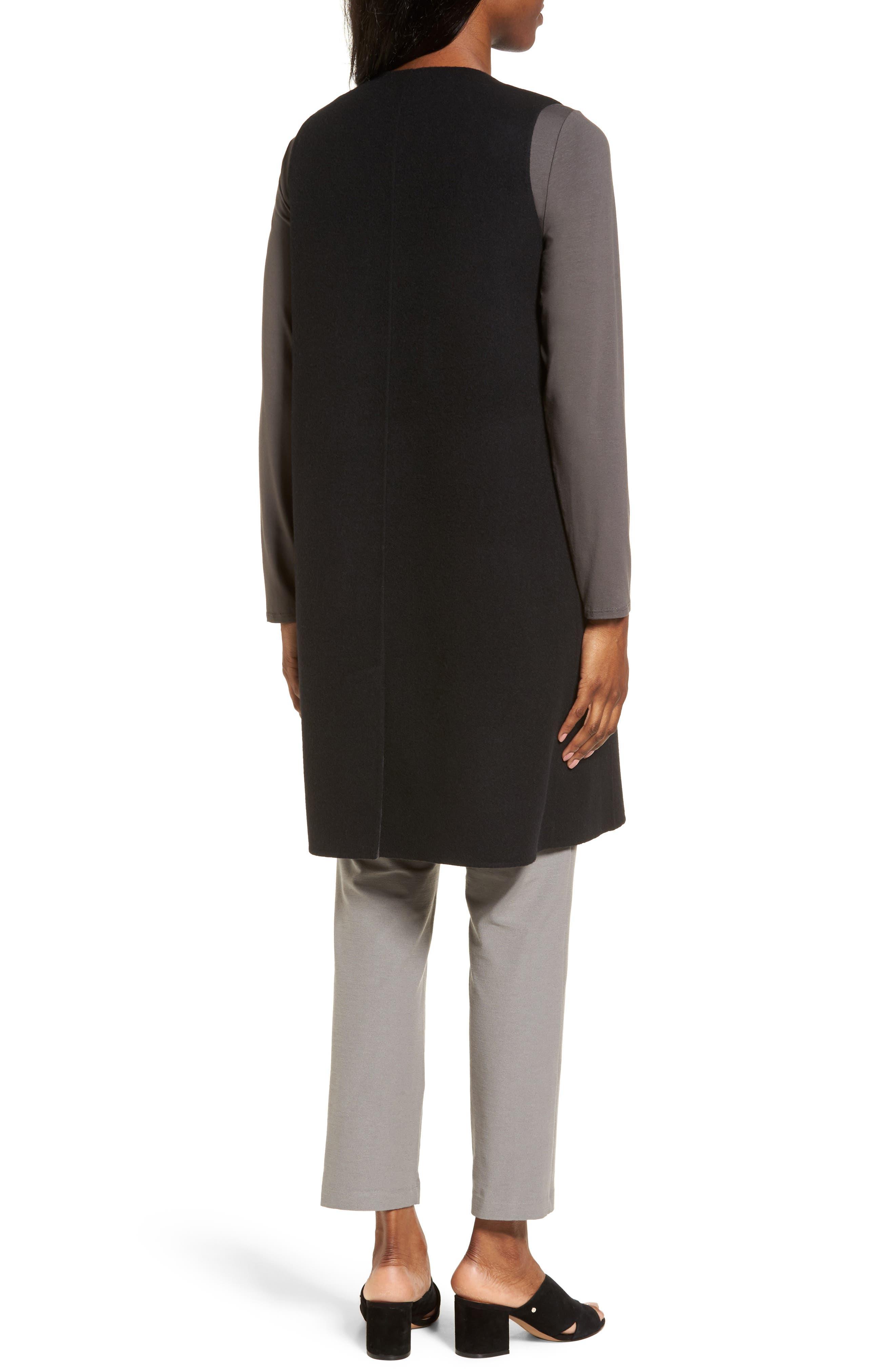 Long Wool Blend Vest,                             Alternate thumbnail 2, color,                             010