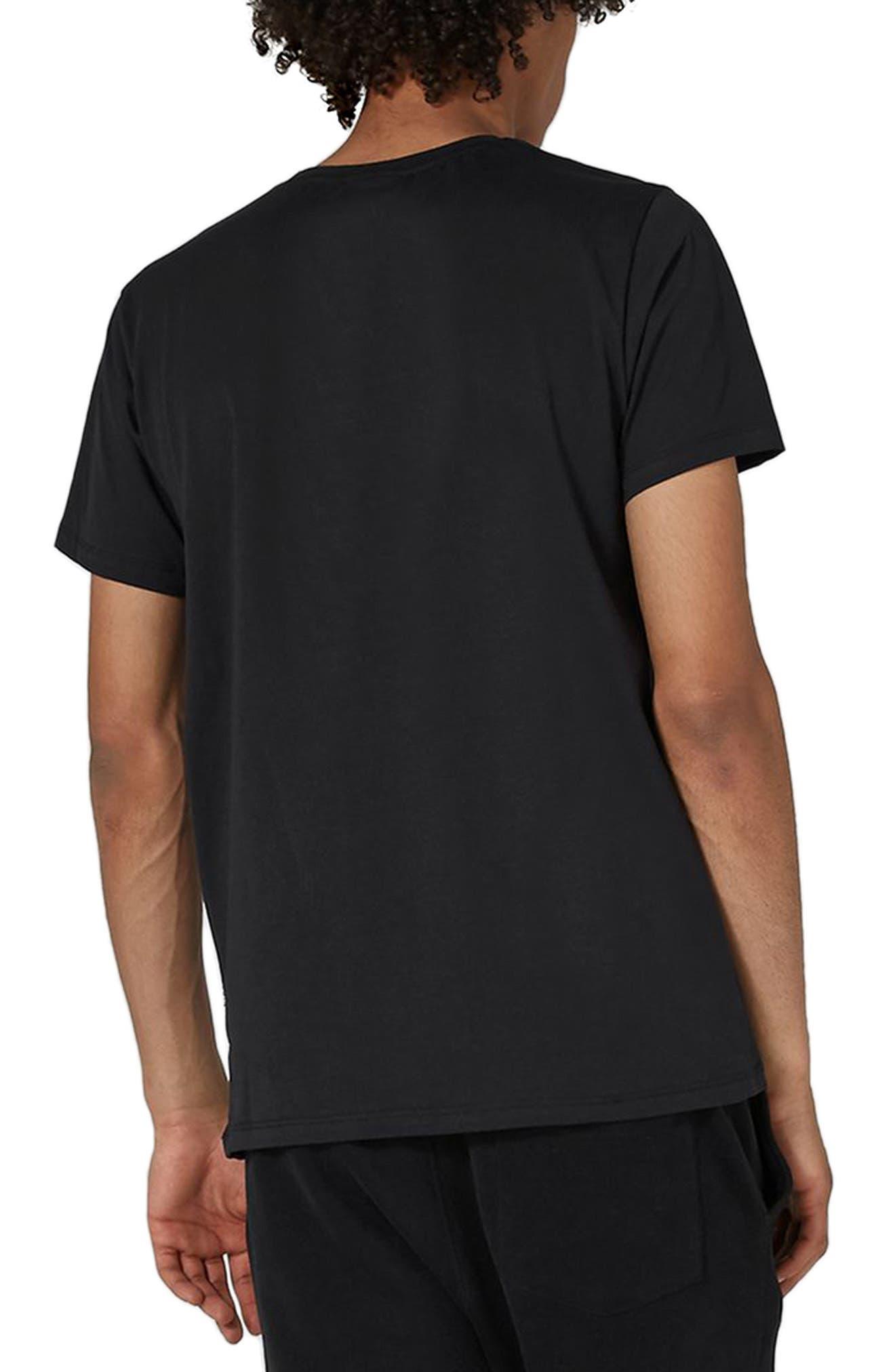 NICCE Logo Patch T-Shirt,                             Alternate thumbnail 2, color,                             001